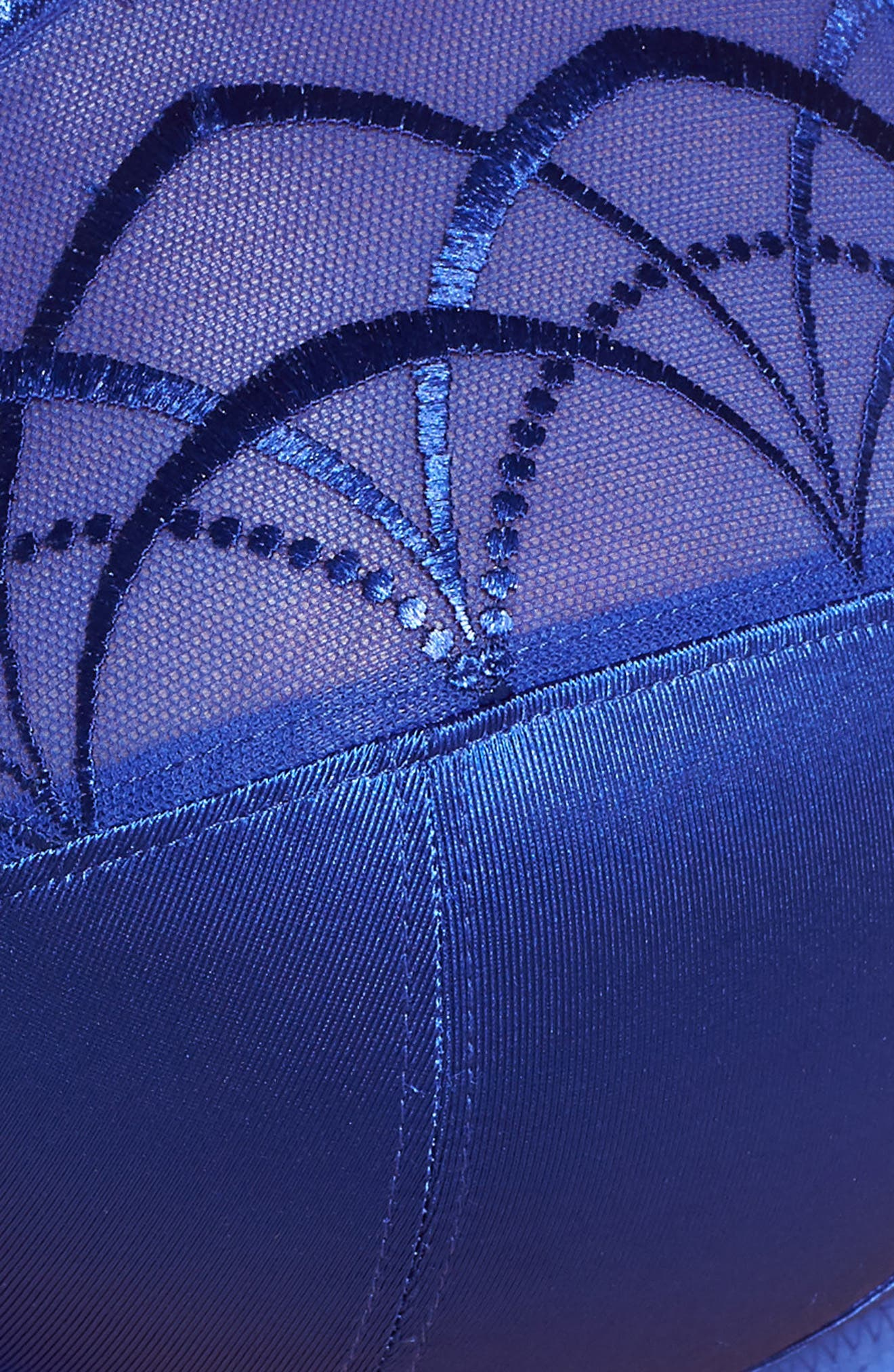 'Cate' Underwire Bra,                             Alternate thumbnail 5, color,                             Royal