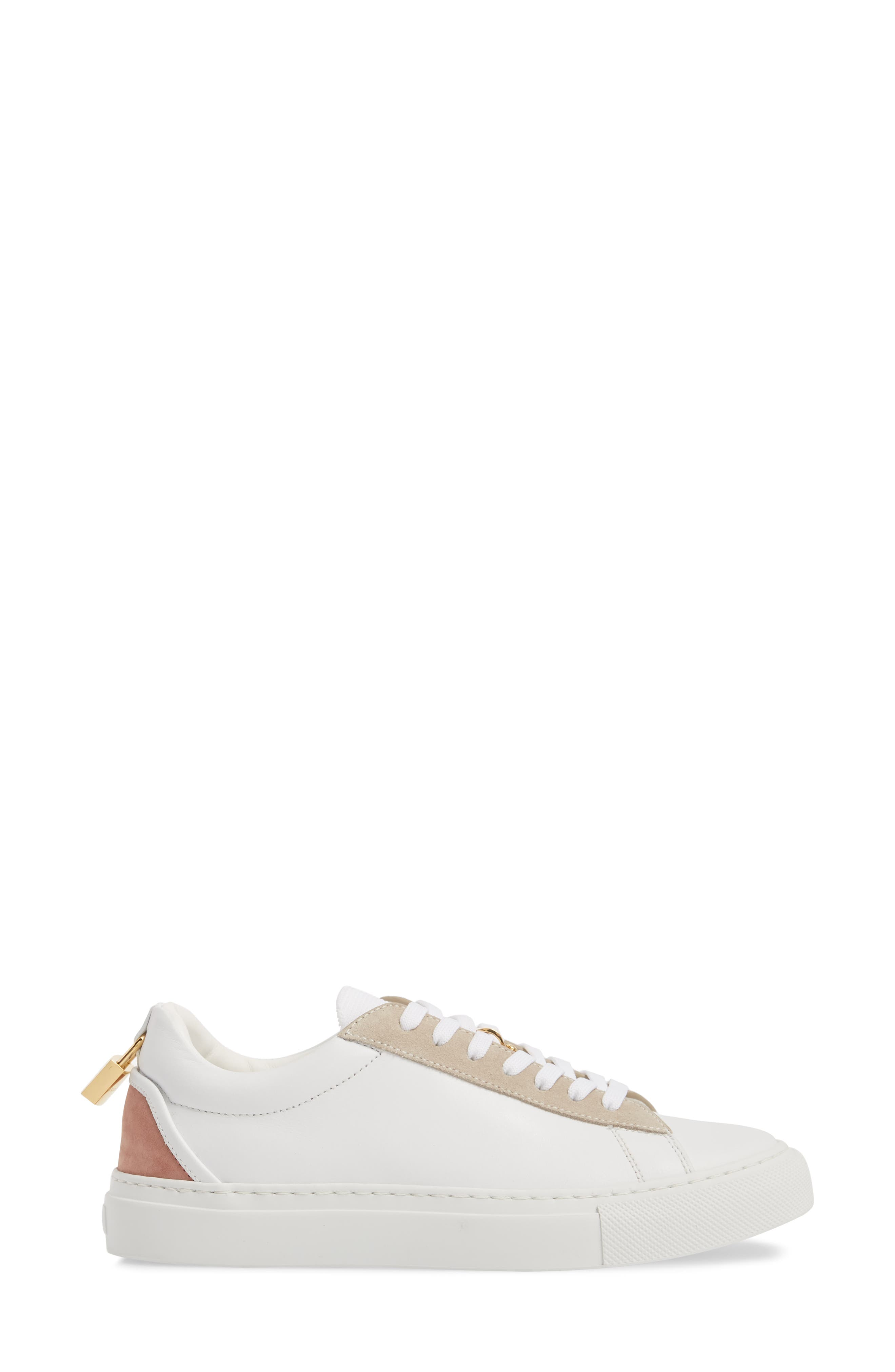 Tennis Lock Sneaker,                             Alternate thumbnail 4, color,                             White/ Dusty Pink