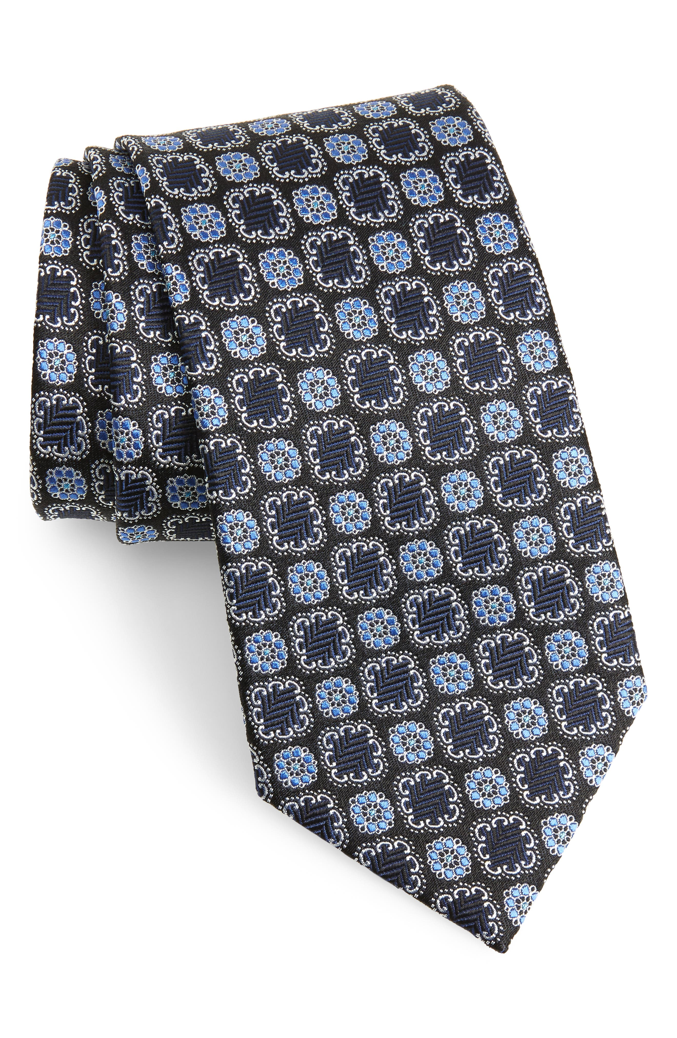Silk Tie,                             Main thumbnail 1, color,                             Blue