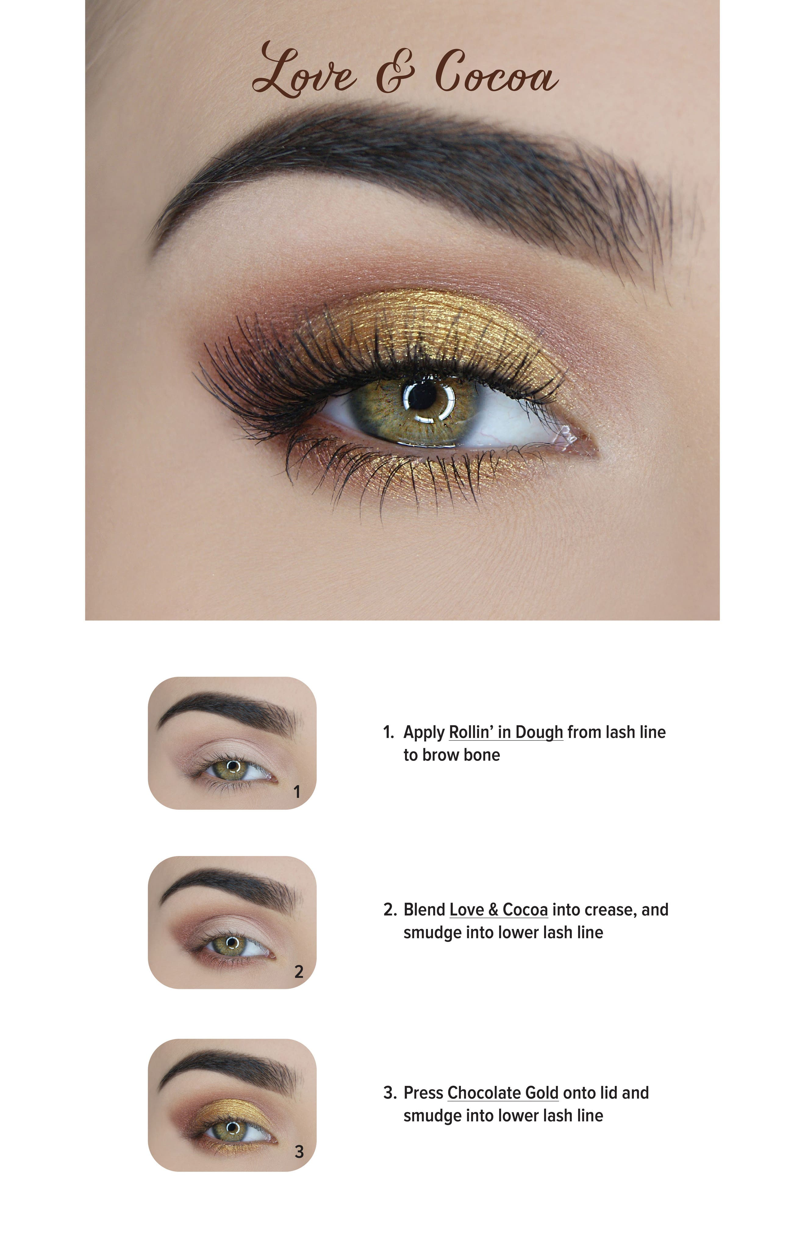 Chocolate Gold Eyeshadow Palette,                             Alternate thumbnail 5, color,                             No Color