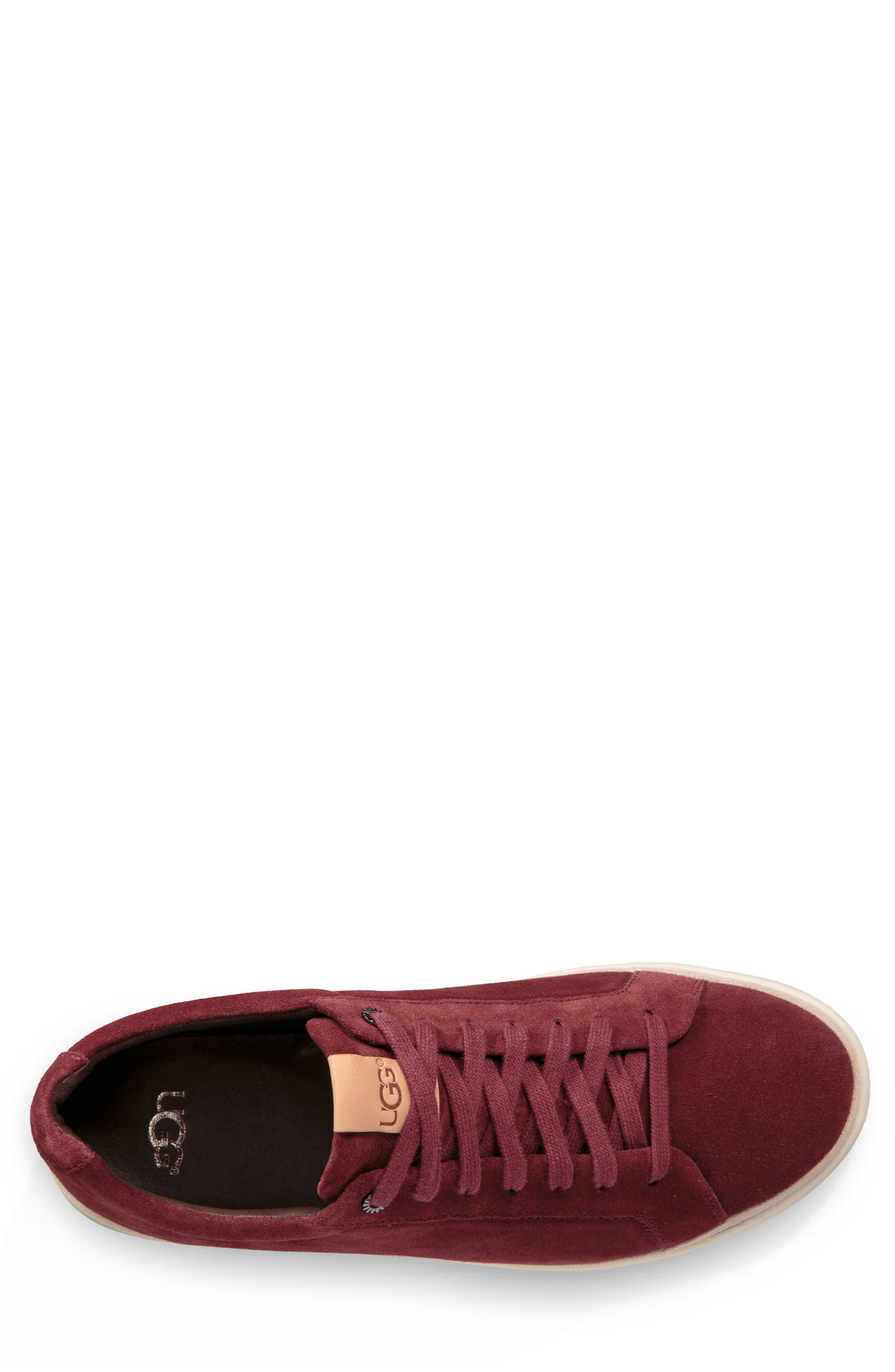 Brecken Sneaker,                             Alternate thumbnail 3, color,                             Pinot Noir Leather