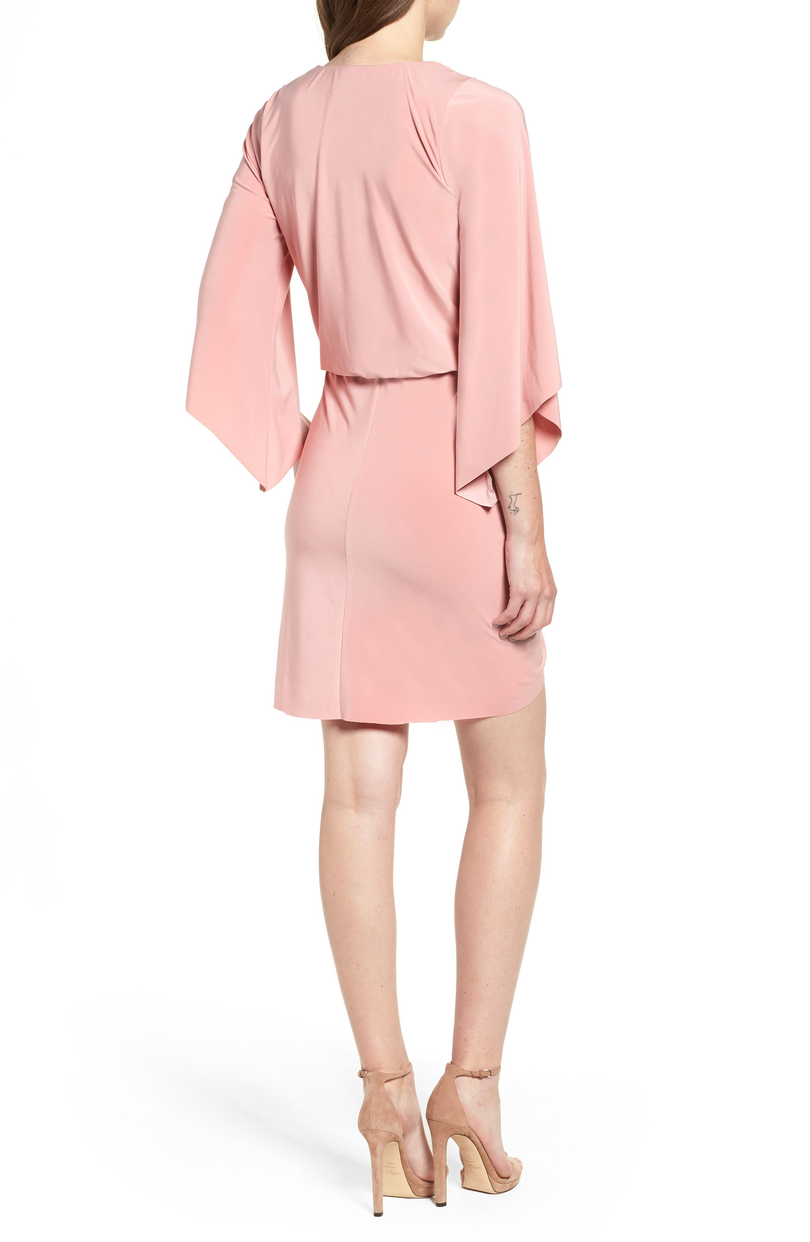Teget Knot Front Dress,                             Alternate thumbnail 2, color,                             Dusty Rose