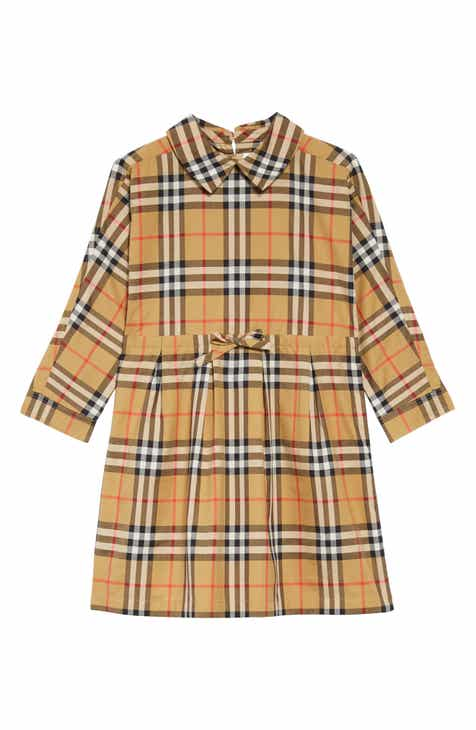 b7c4ced6c52 Burberry Mini Crissida Check Print Dress (Baby Girls   Toddler Girls)