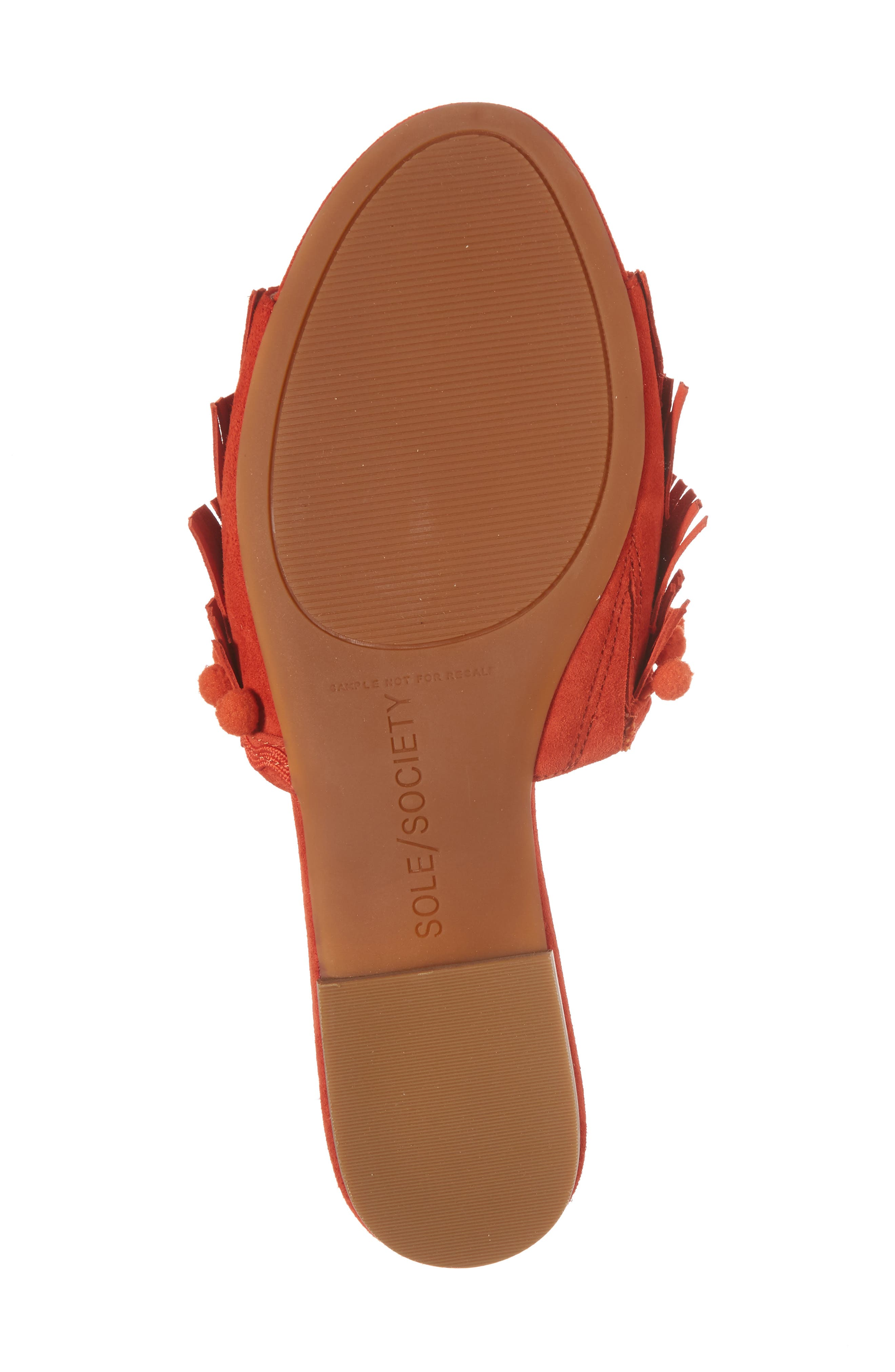 Malina Mule,                             Alternate thumbnail 6, color,                             Bright Coral Suede