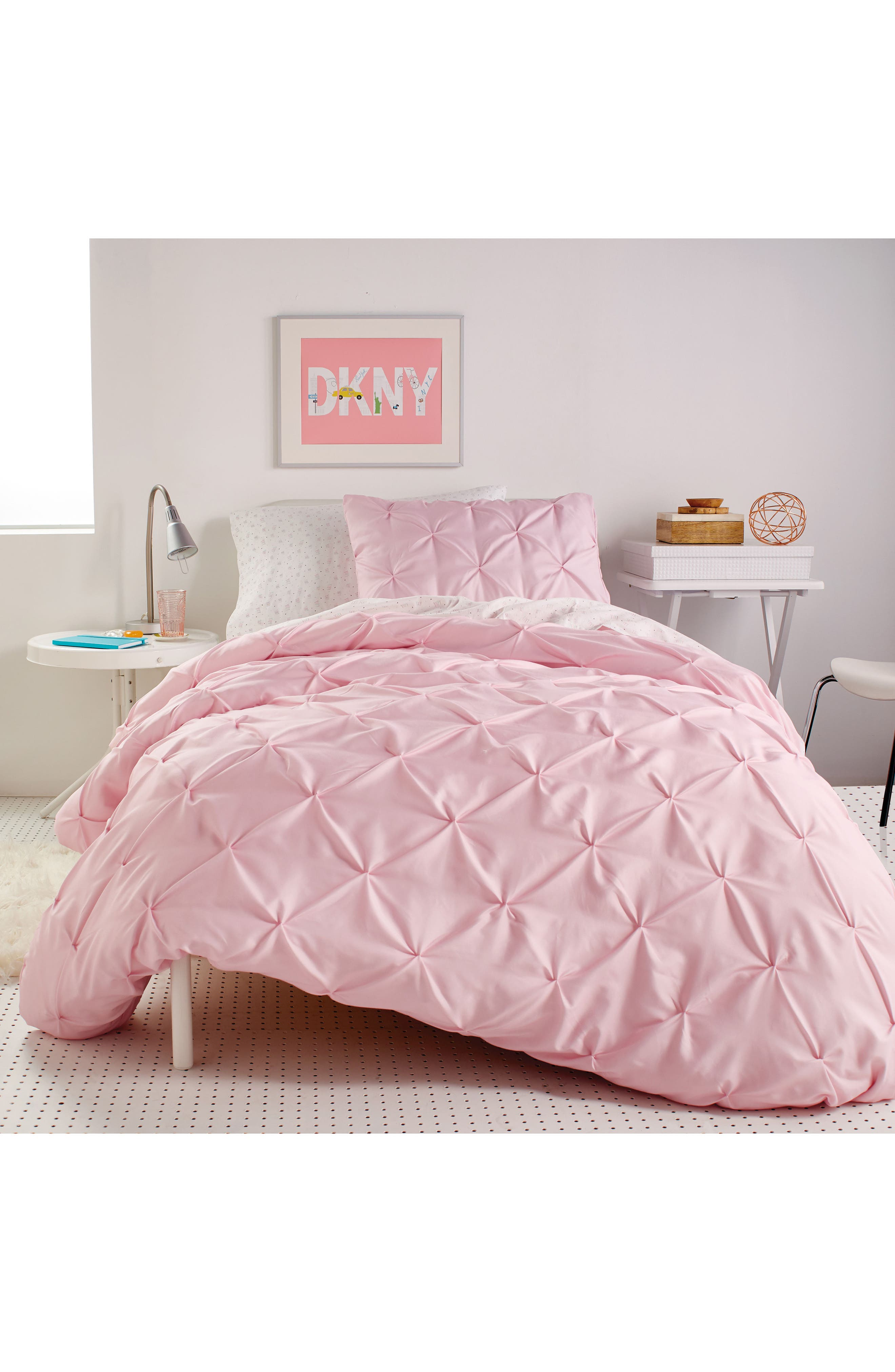 Duvet & Sham Set,                         Main,                         color, Pink