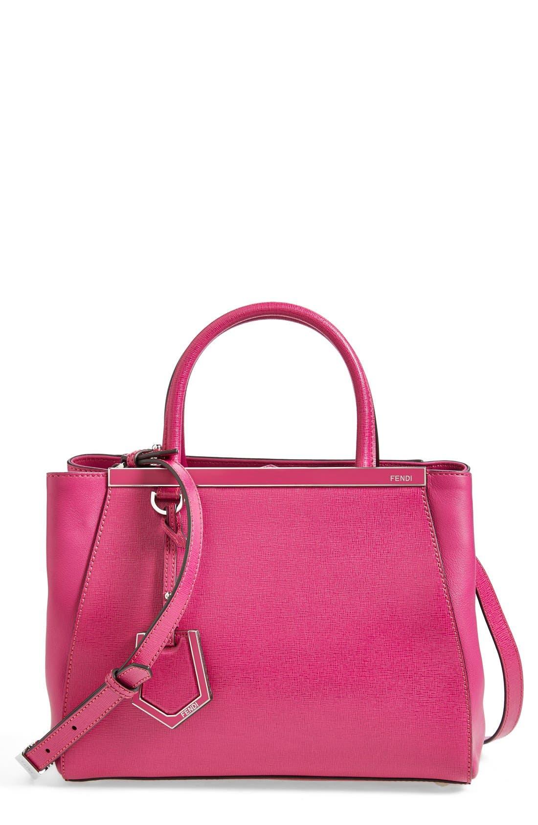 'Petite 2Jours Elite' Leather Shopper,                         Main,                         color, Magenta