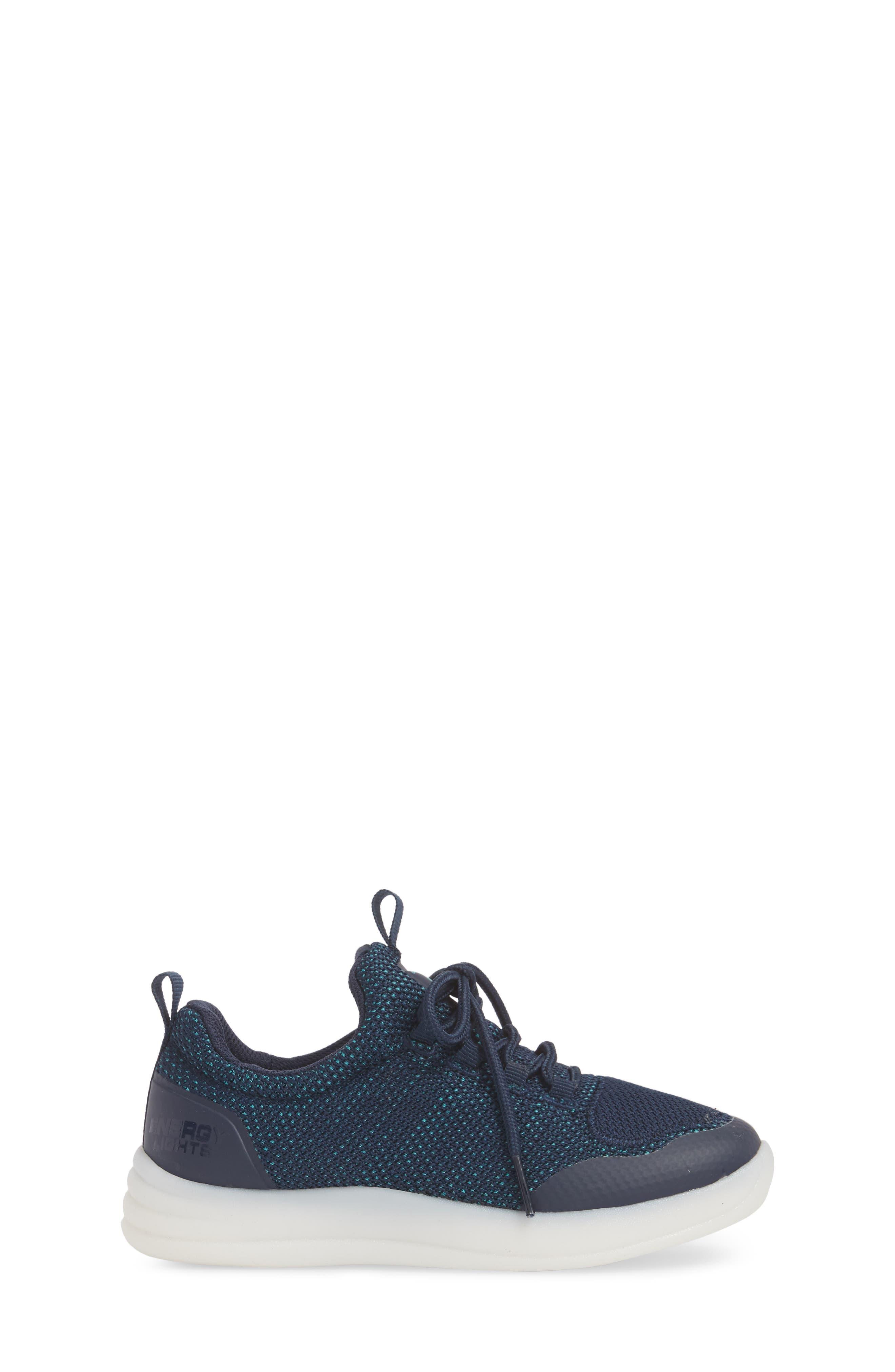 Energy Lights Street Sneaker,                             Alternate thumbnail 4, color,                             Navy
