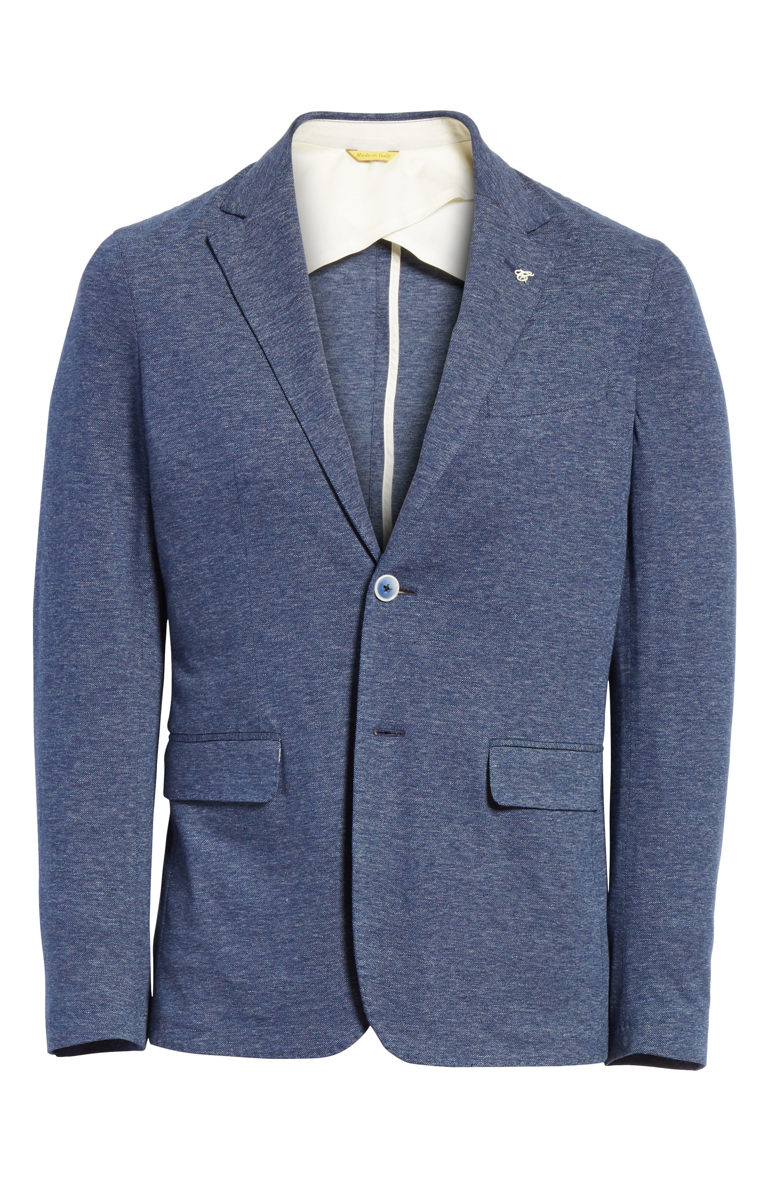 Slim Fit Cotton Blazer,                             Alternate thumbnail 6, color,                             Blue
