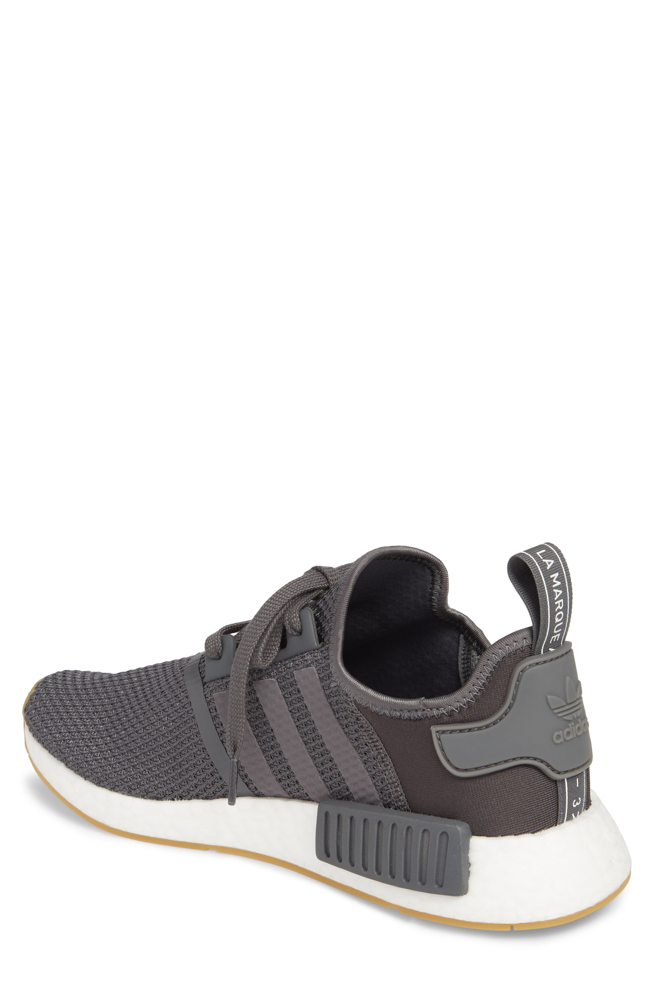 Originals NMD R1 Sneaker,                             Alternate thumbnail 2, color,                             Grey/ Black
