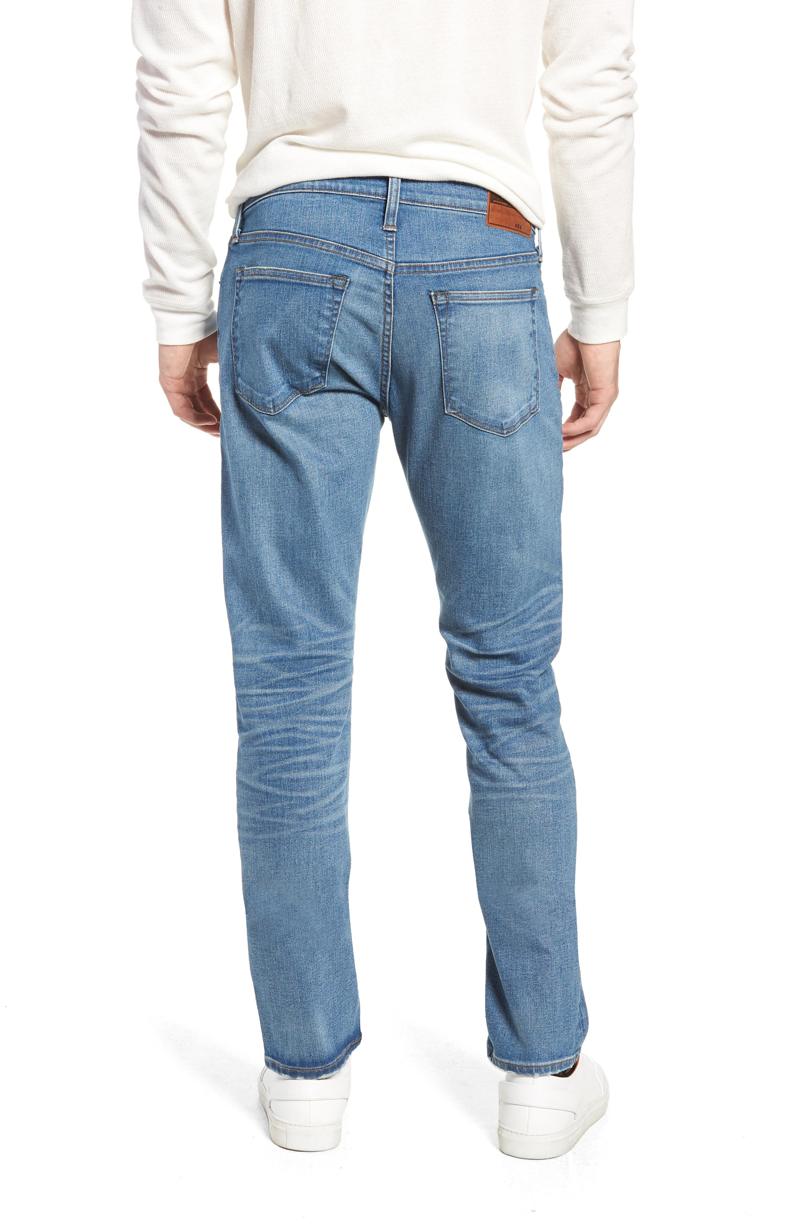 484 Slim Fit Distressed Stretch Jeans,                             Alternate thumbnail 2, color,                             Stockton Wash
