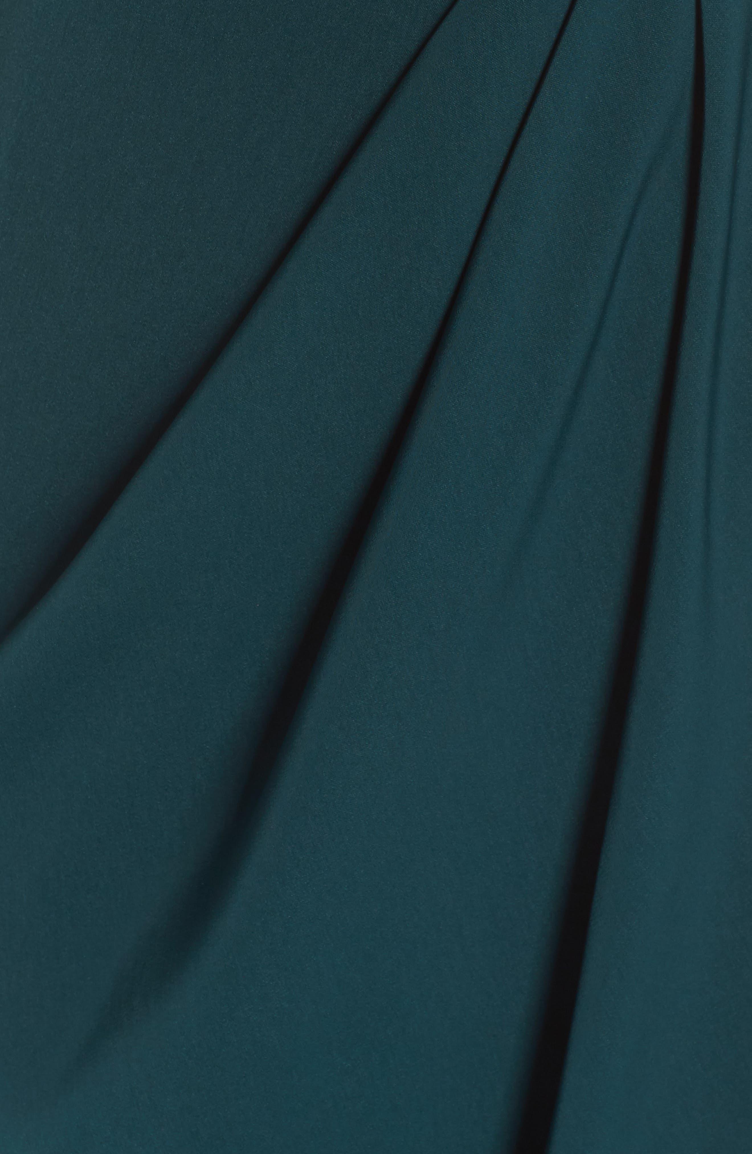 Knotted Tulip Hem Midi Dress,                             Alternate thumbnail 6, color,                             Seaweed