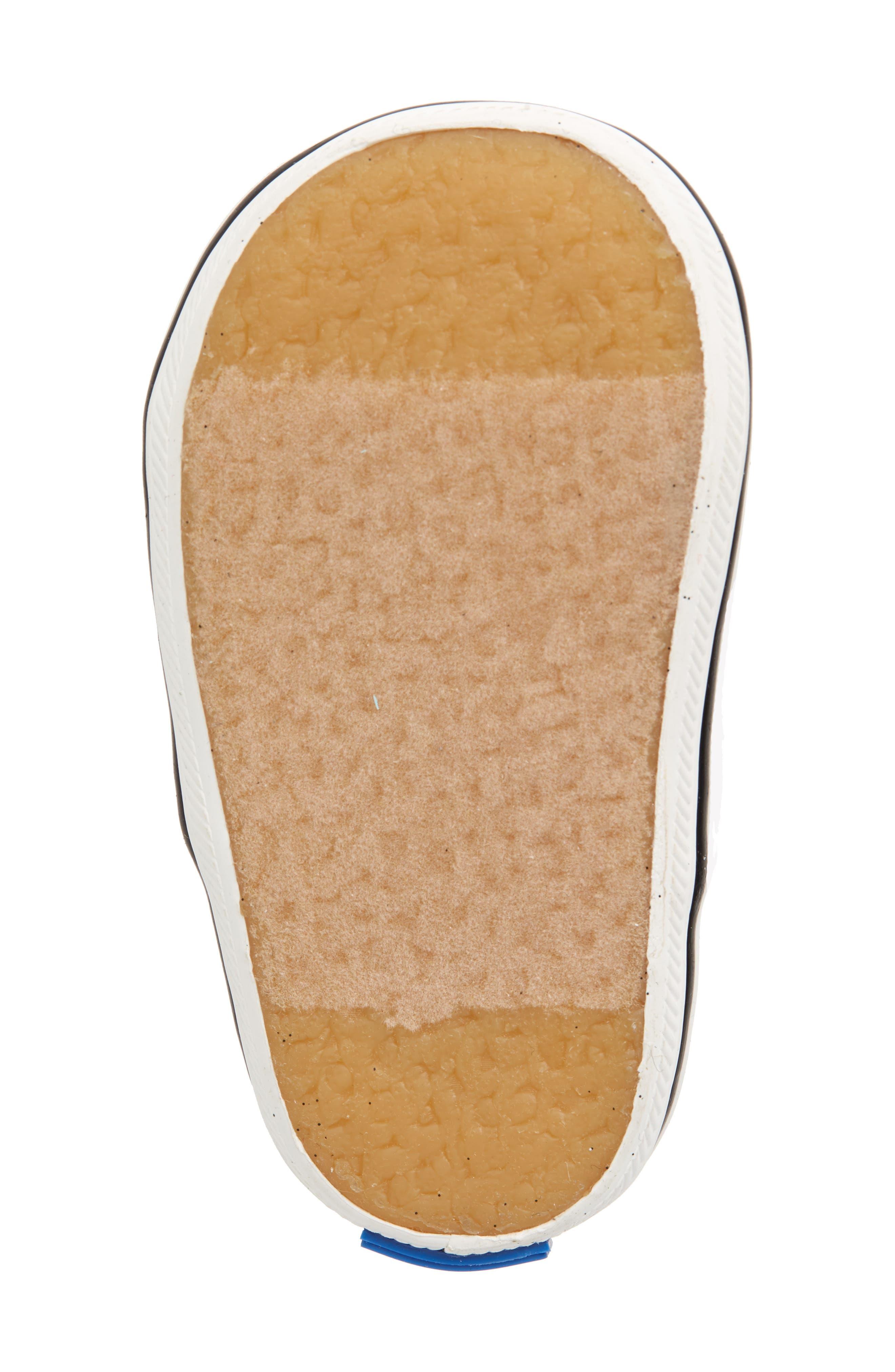 x kate spade new york Champion Glitter Crib Shoe,                             Alternate thumbnail 6, color,                             Black