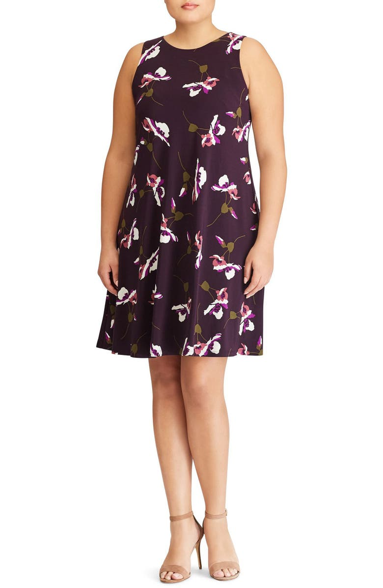 Suzan Scattered Poppies Shift Dress