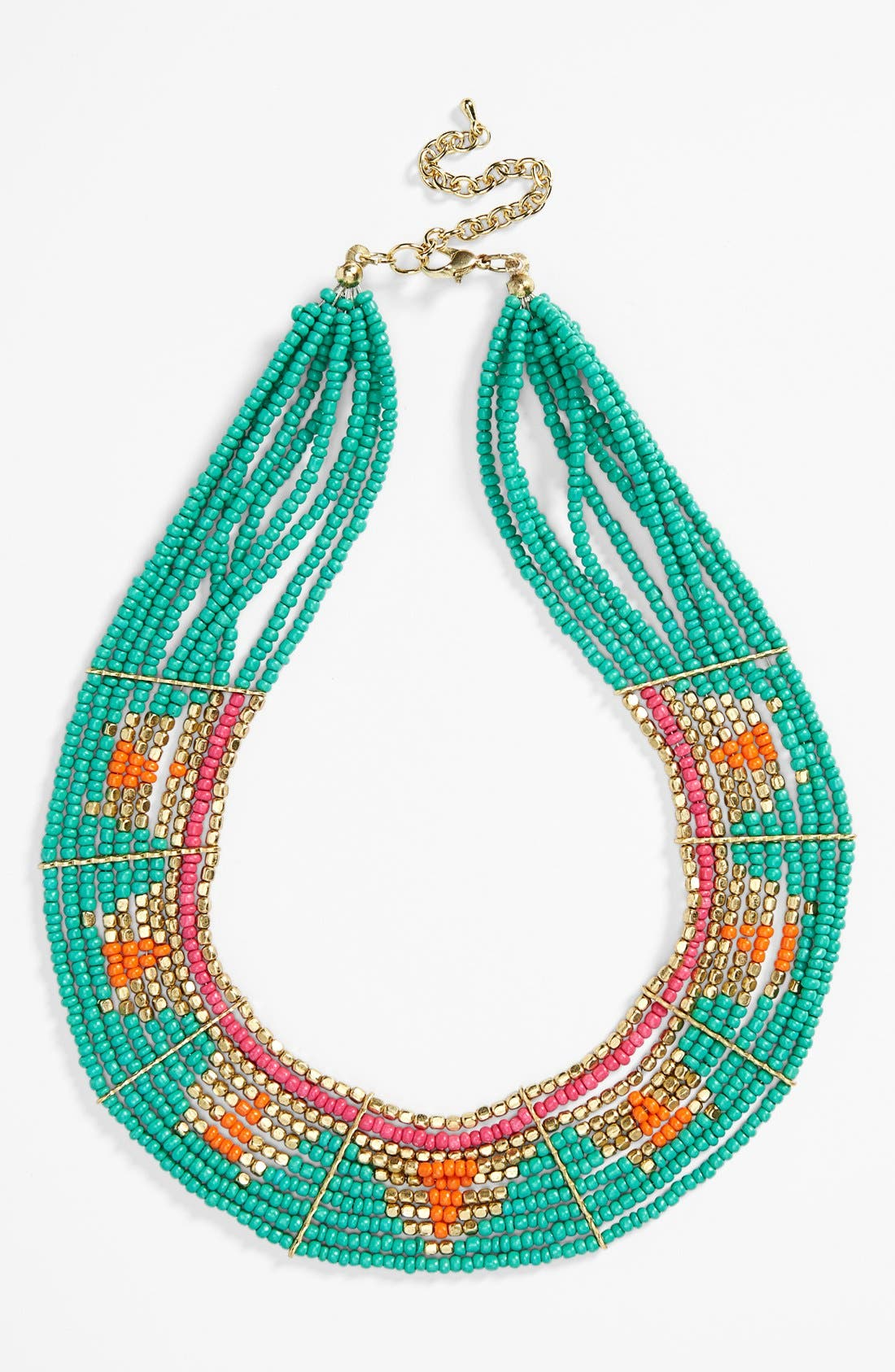 Main Image - BP. Geometric Seed Bead Collar Necklace