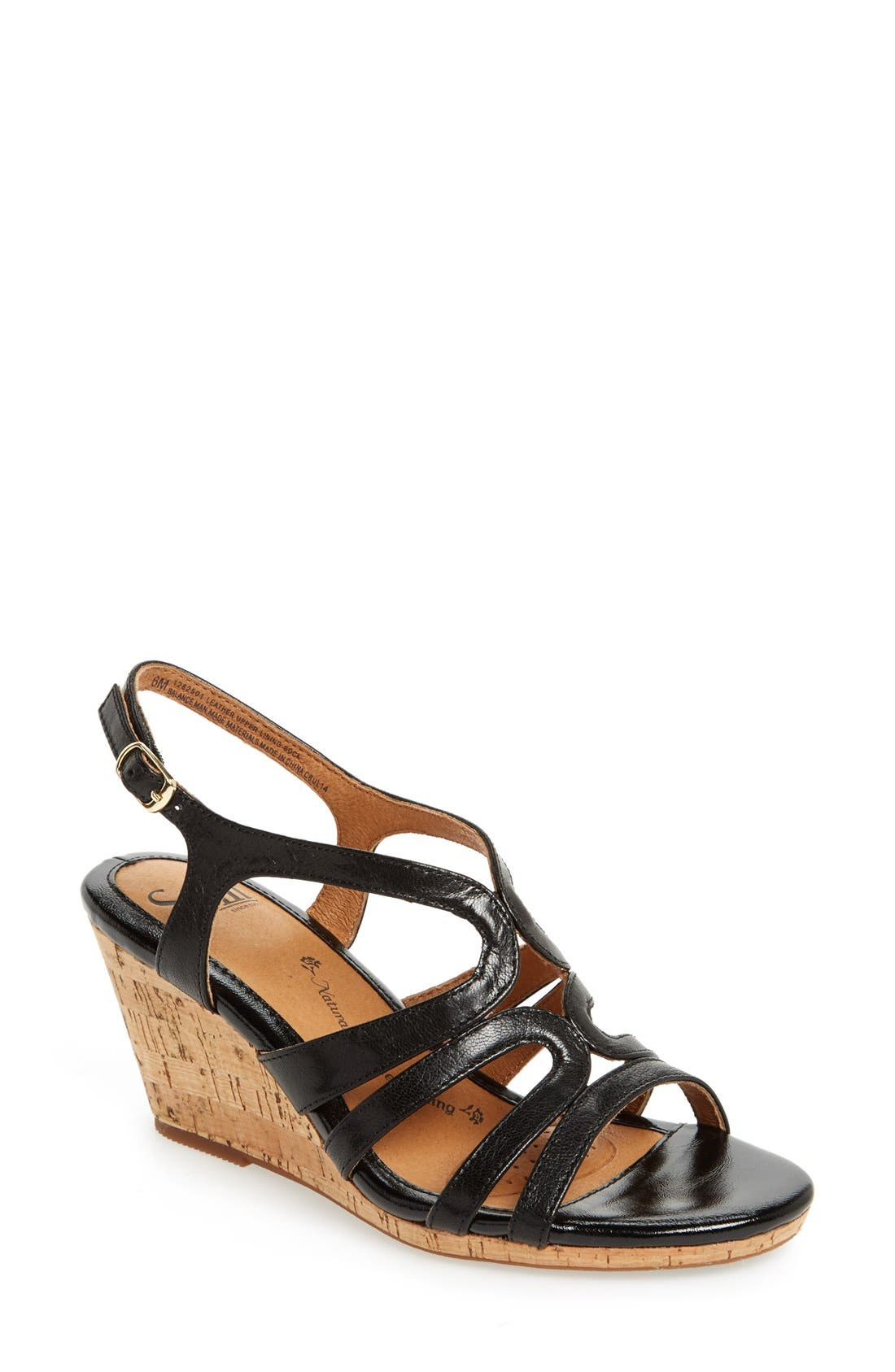 Alternate Image 1 Selected - Söfft 'Corinth' Leather Wedge Sandal (Women)