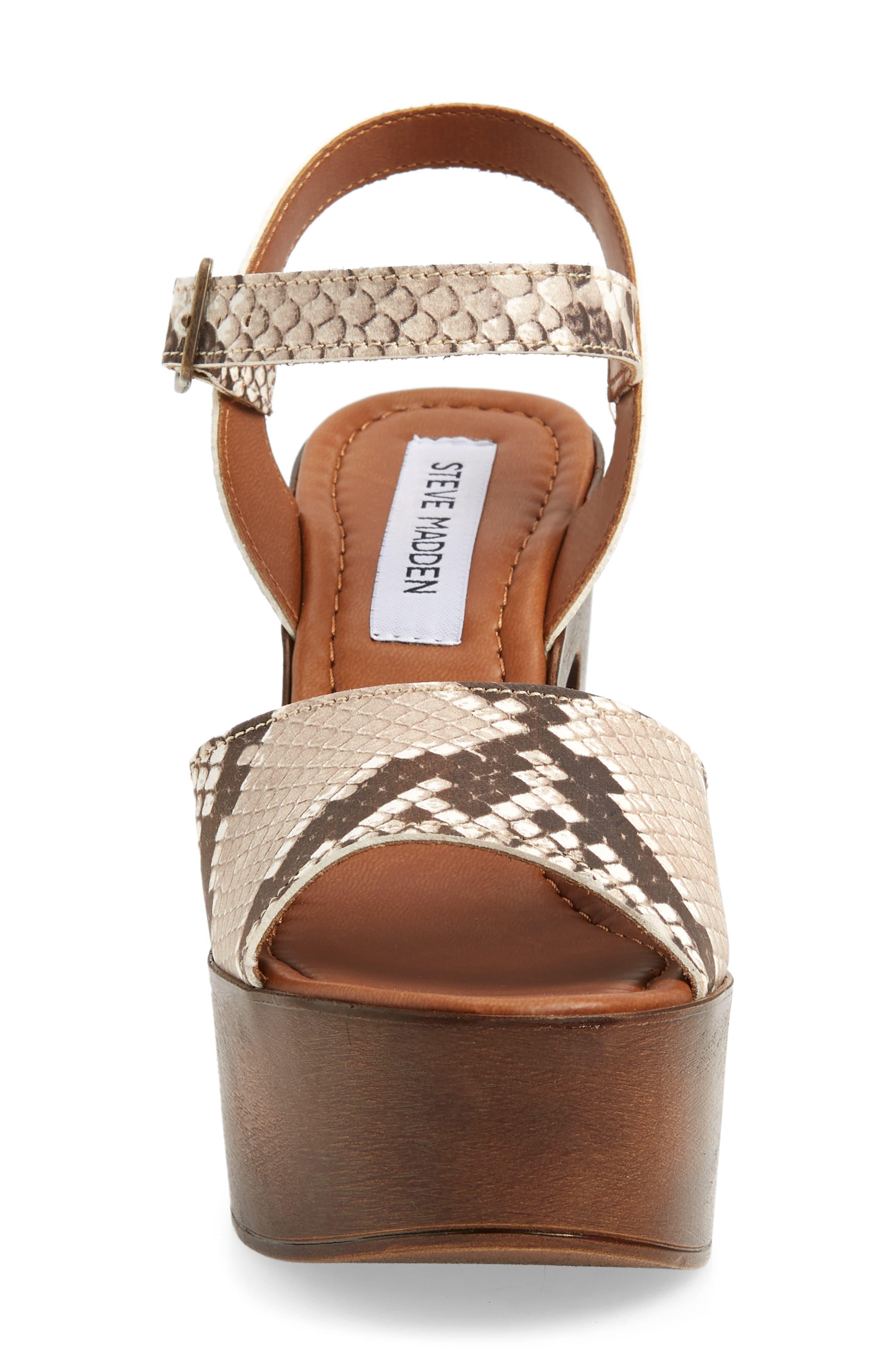 Lulla Platform Sandal,                             Alternate thumbnail 6, color,                             White Reptile