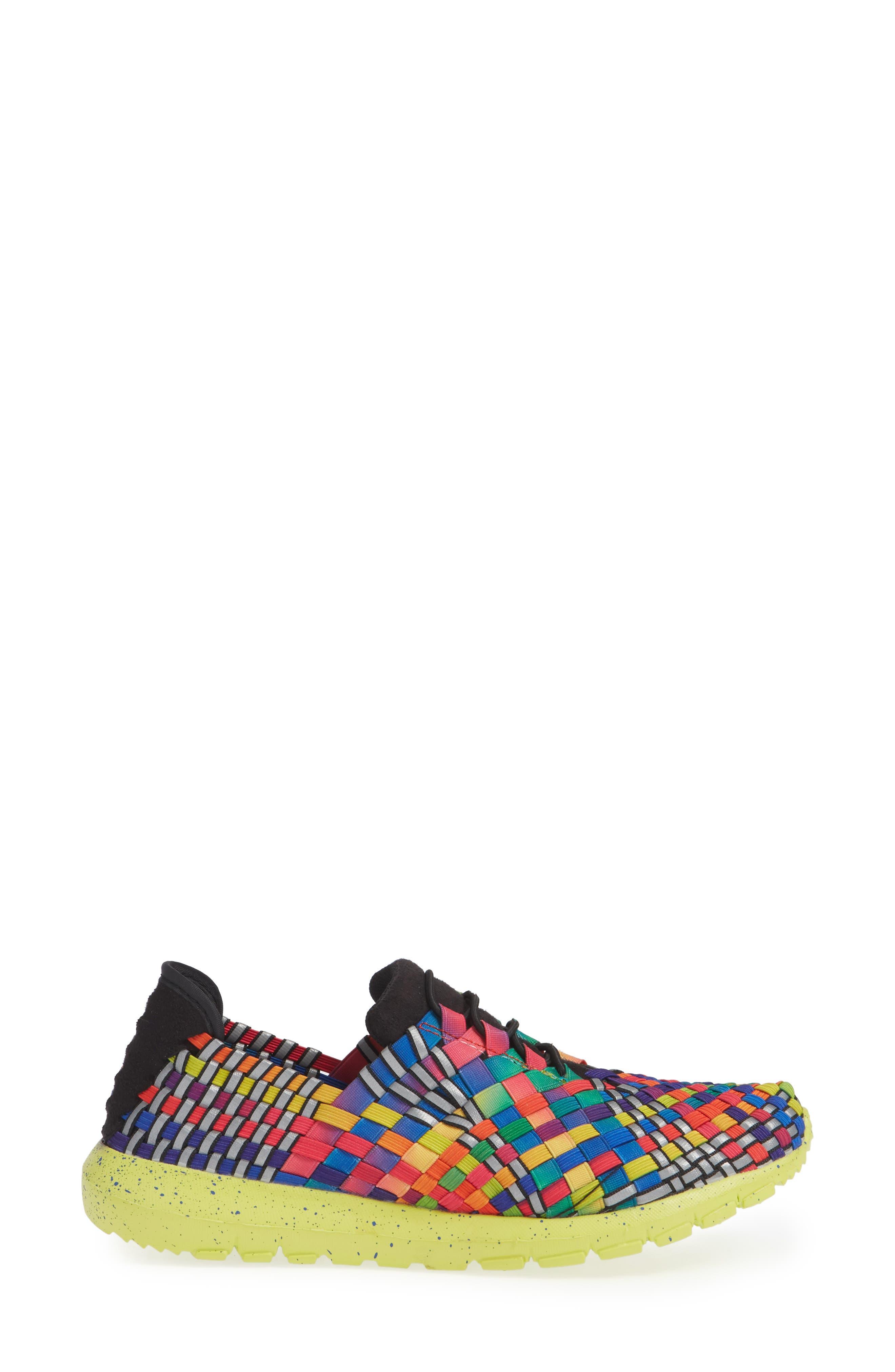 Runners Victoria Sneaker,                             Alternate thumbnail 3, color,                             Black Multi Reflective Fabric