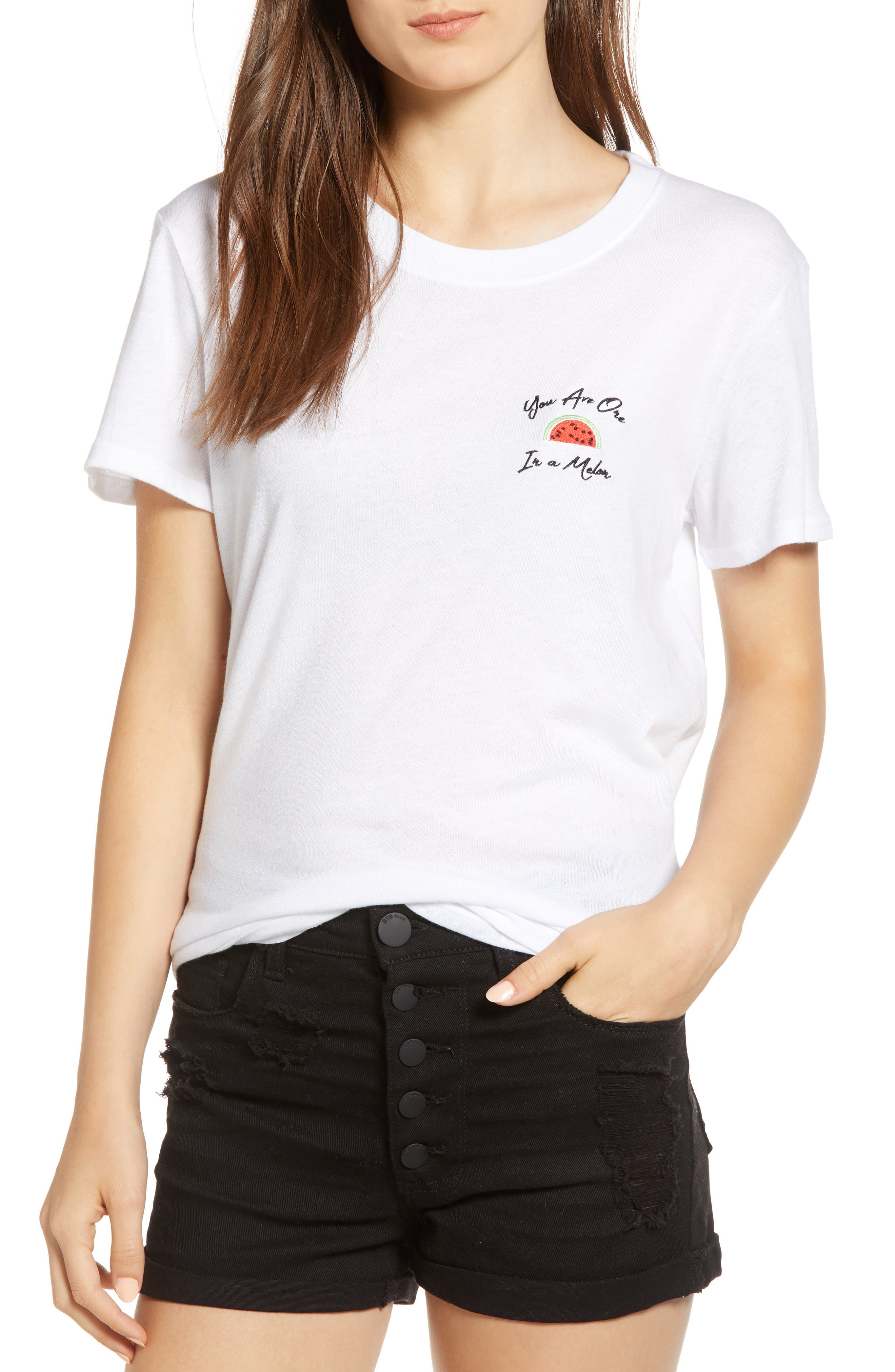 SUB_URBAN RIOT ONE IN A MELON EMBROIDERED SLOUCHED TEE