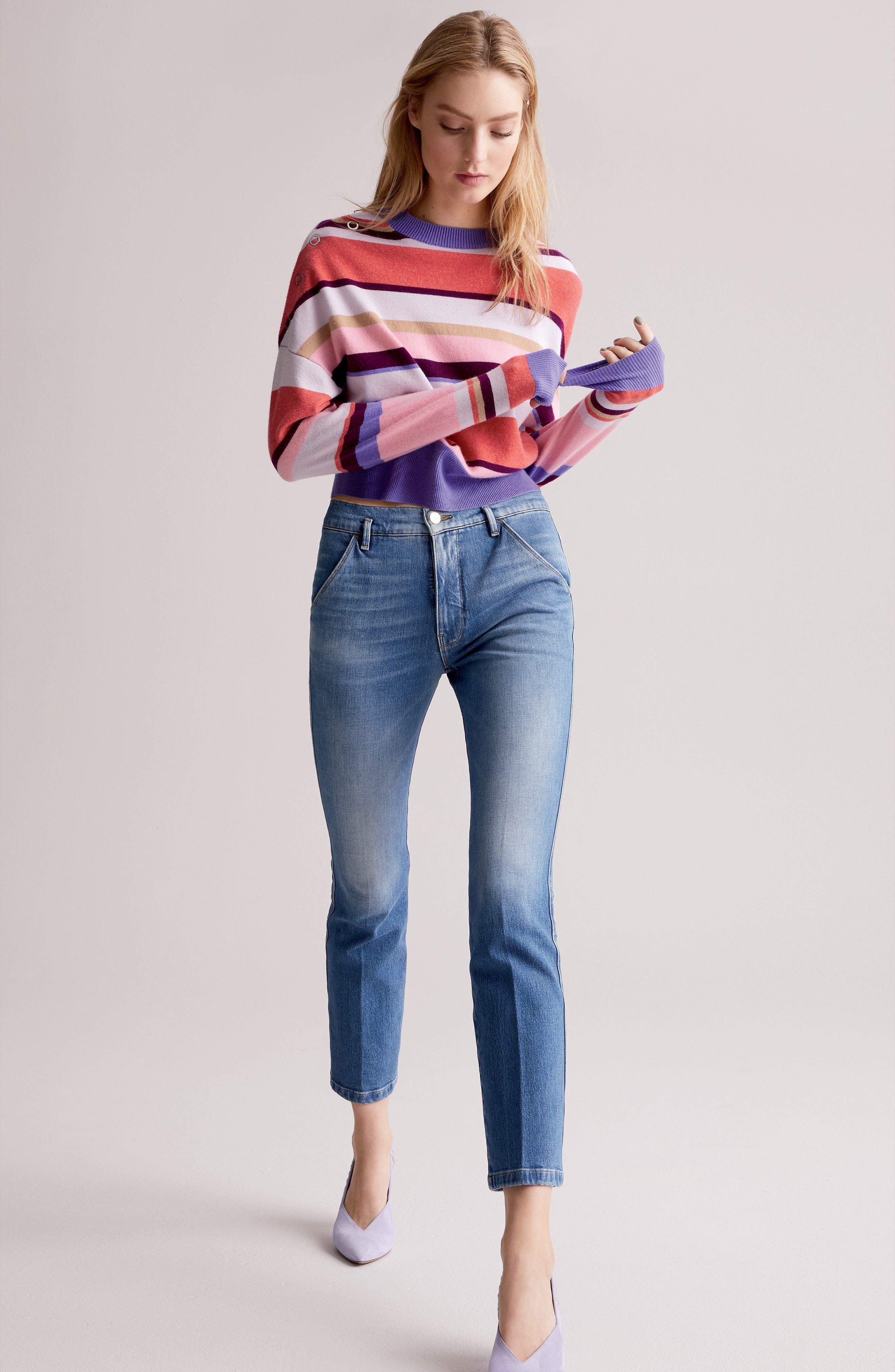Le Slender Straight Leg Jeans,                             Alternate thumbnail 10, color,