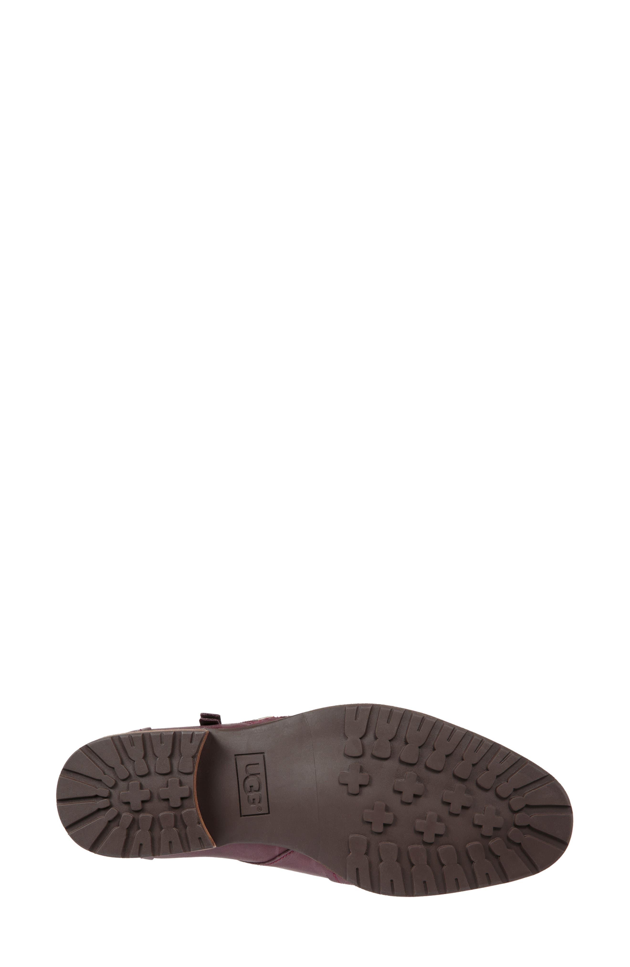 Aureo Bootie,                             Alternate thumbnail 3, color,                             Oxblood Leather