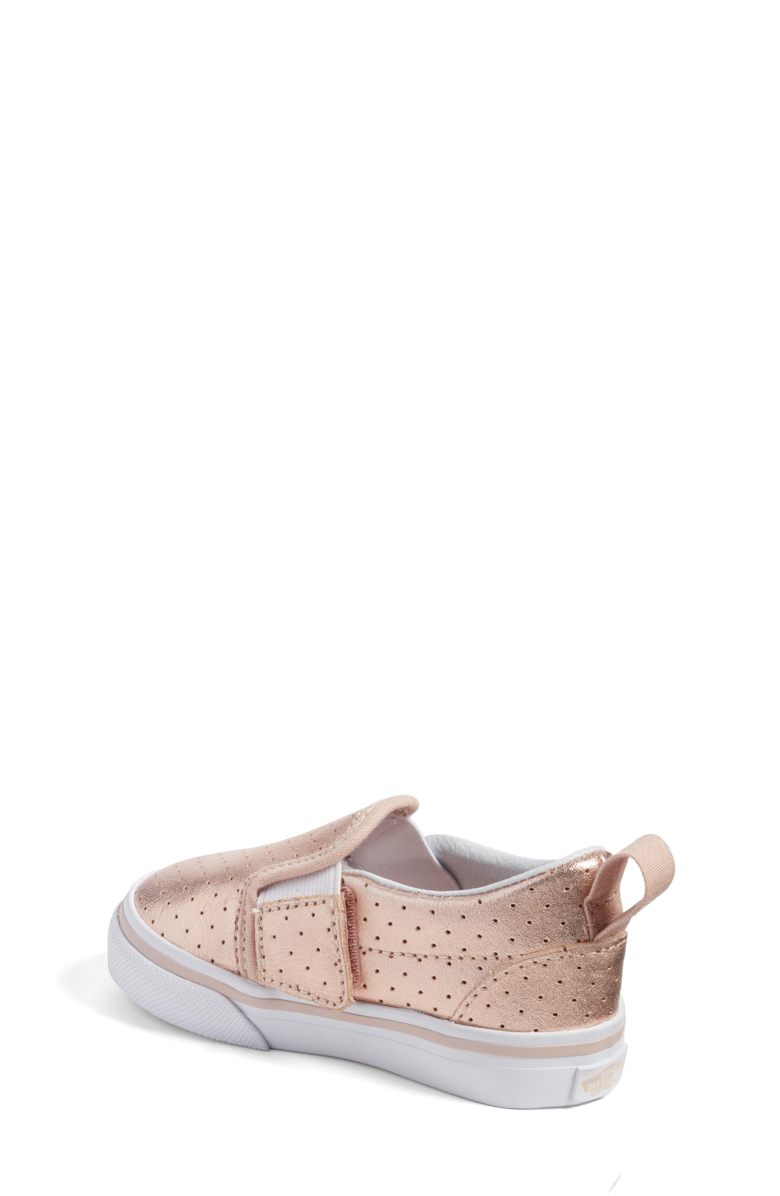 'Classic' Slip-On Sneaker,                             Alternate thumbnail 2, color,                             Rose Gold Perf Leather