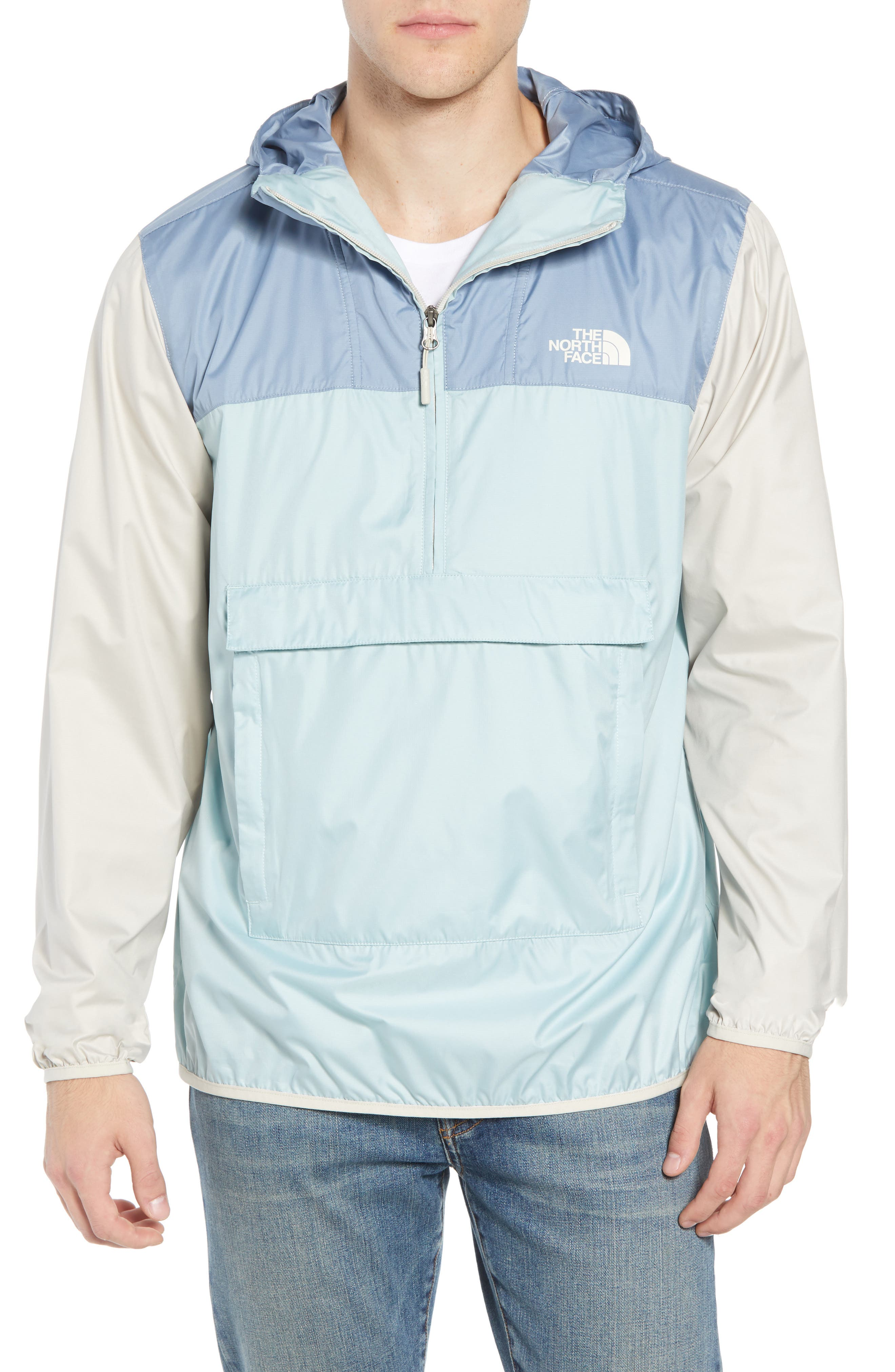 Fanorak Pullover,                         Main,                         color, Blue Haze Multi