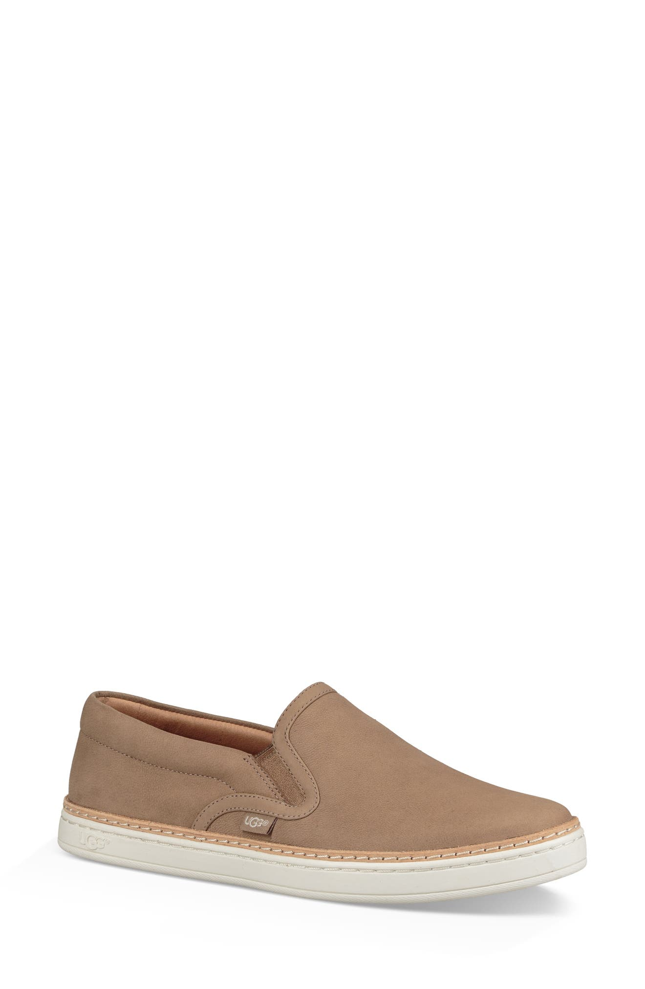 Soleda Slip-On Sneaker,                         Main,                         color, Fawn Leather