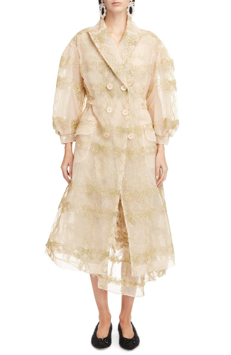 Tinsel Bow Tulle Coat