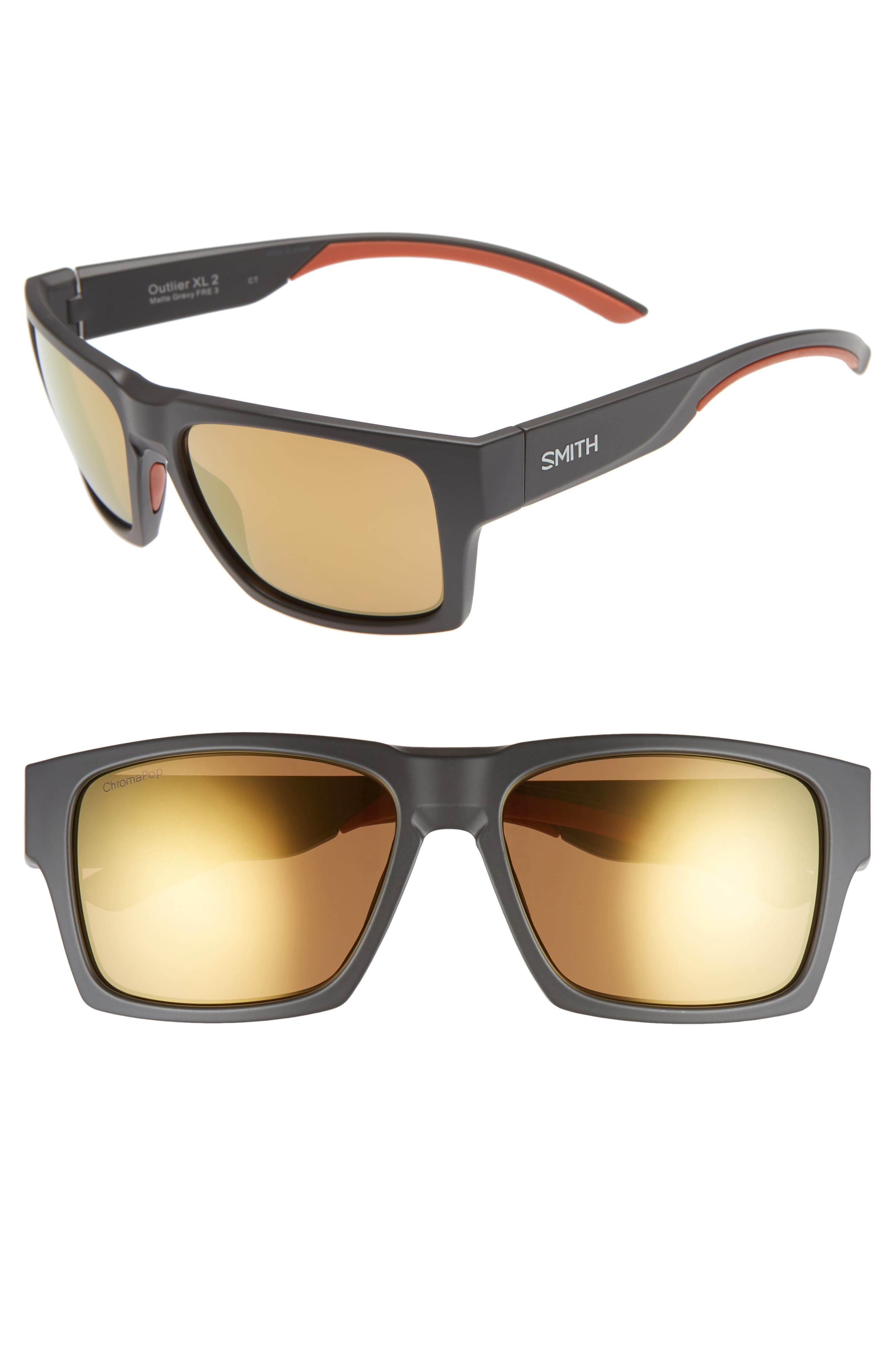 SMITH OUTLIER 2XL 59MM POLARIZED SUNGLASSES - MATTE GRAVY