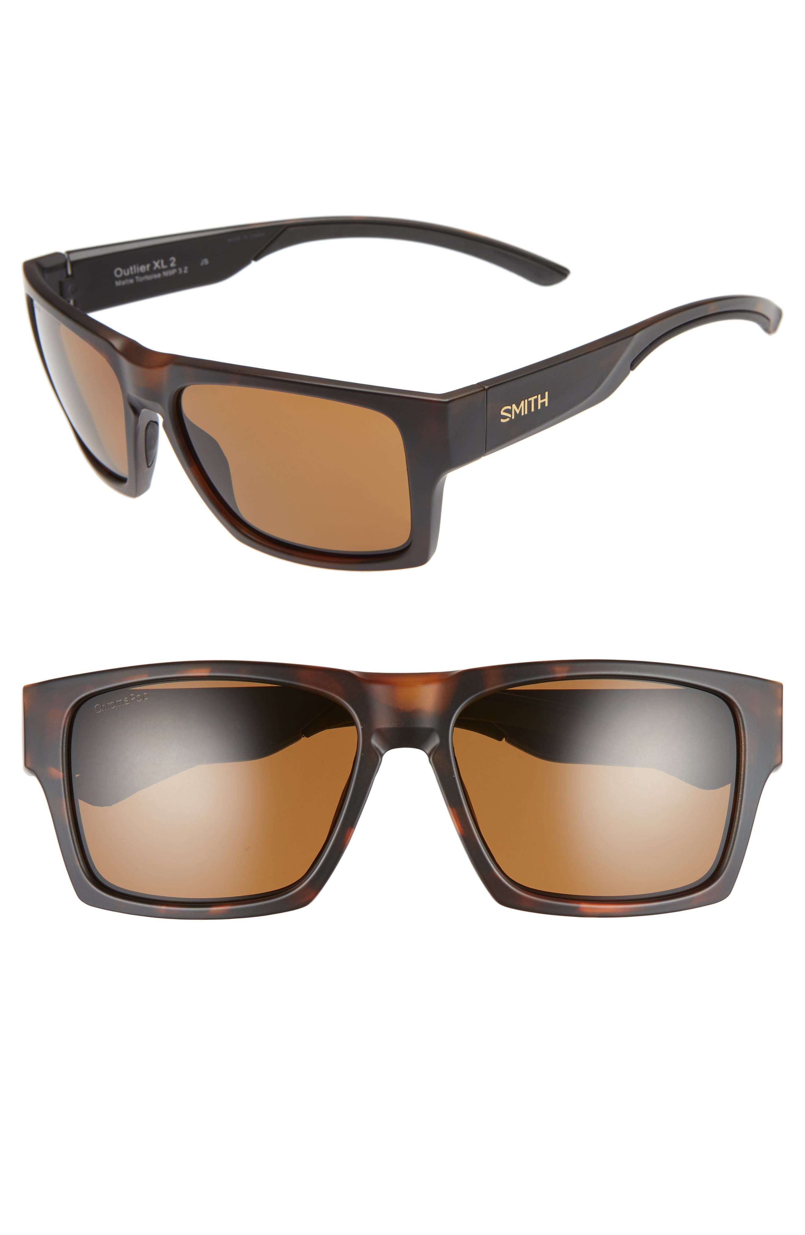 SMITH OUTLIER 2XL 59MM POLARIZED SUNGLASSES - MATTE TORTOISE