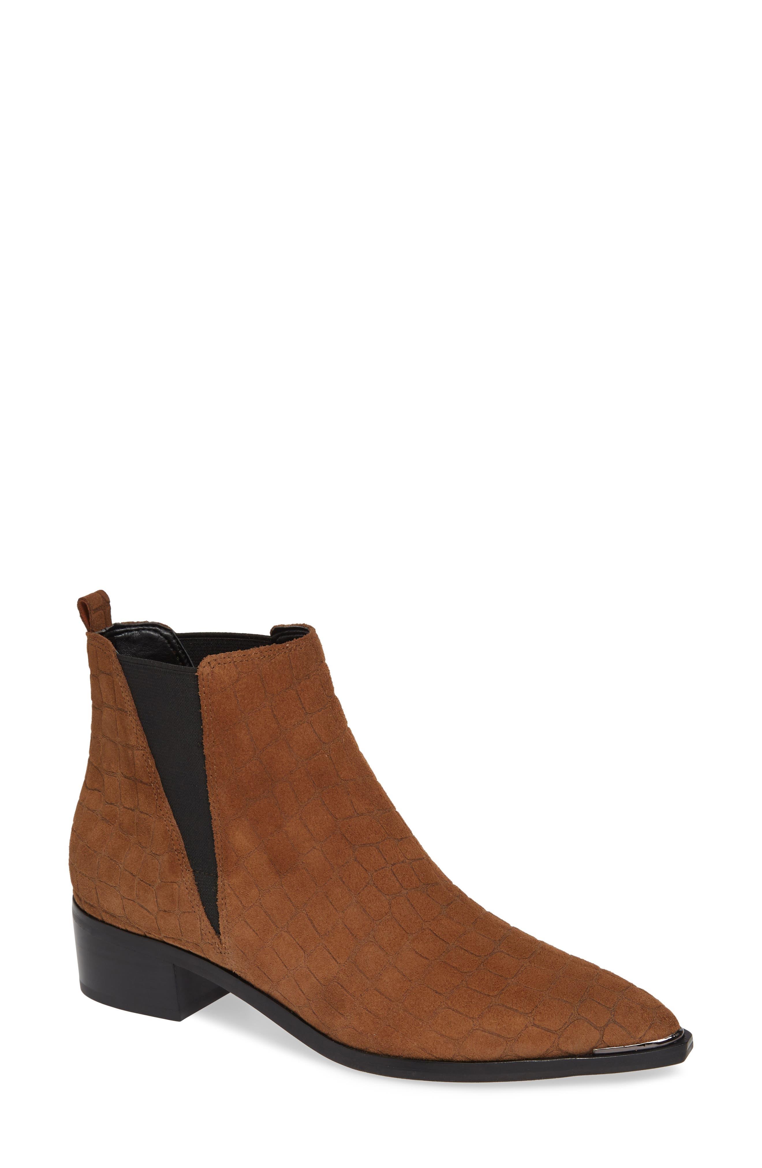 'Yale' Chelsea Boot,                             Main thumbnail 1, color,                             Cognac Suede