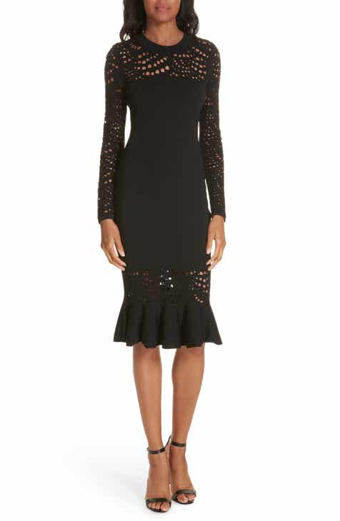 Milly Lace Pointelle Mermaid Midi Dress