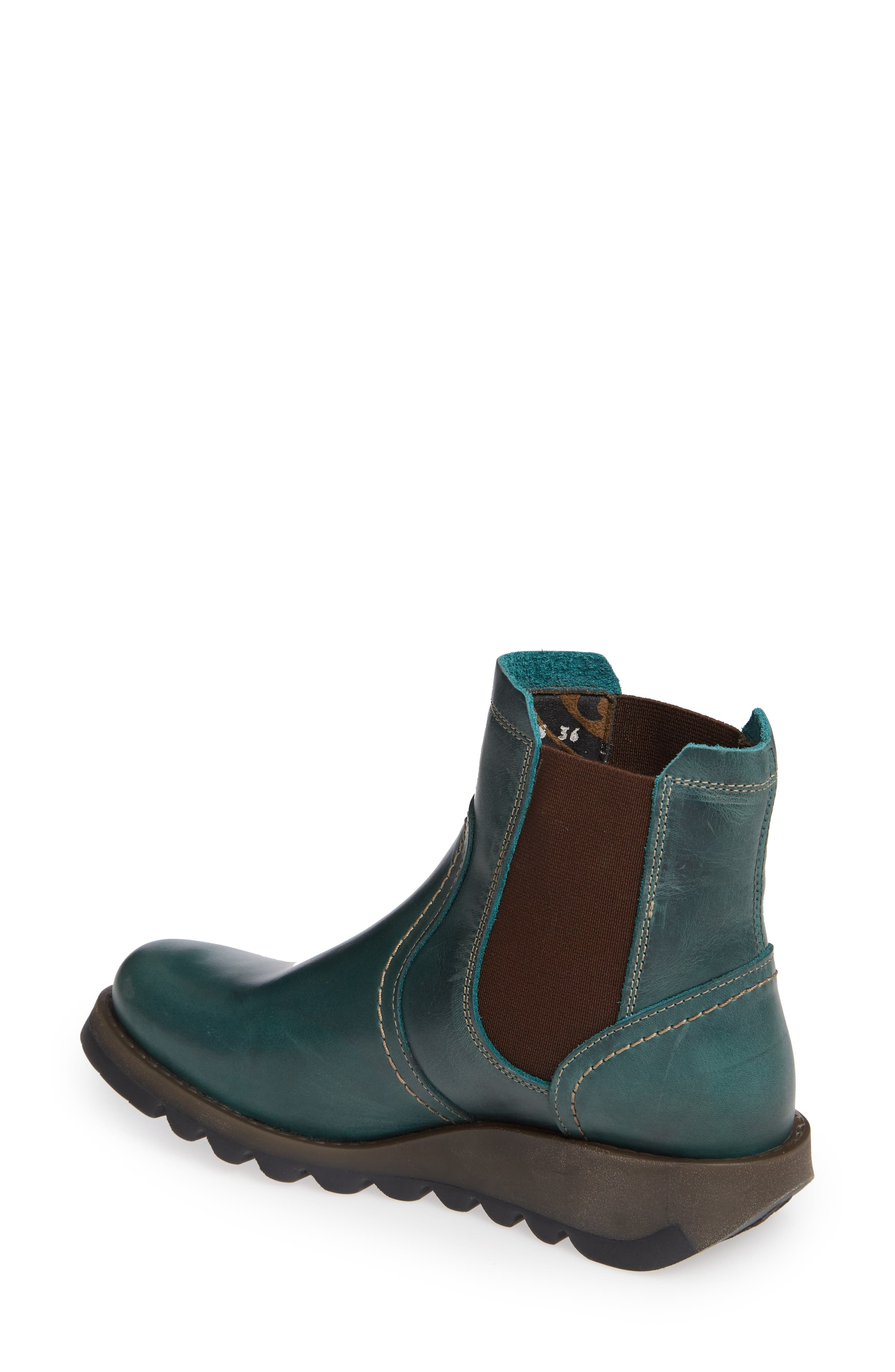 Scon Waterproof Gore-Tex<sup>®</sup> Chelsea Boot,                             Alternate thumbnail 2, color,                             Petrol