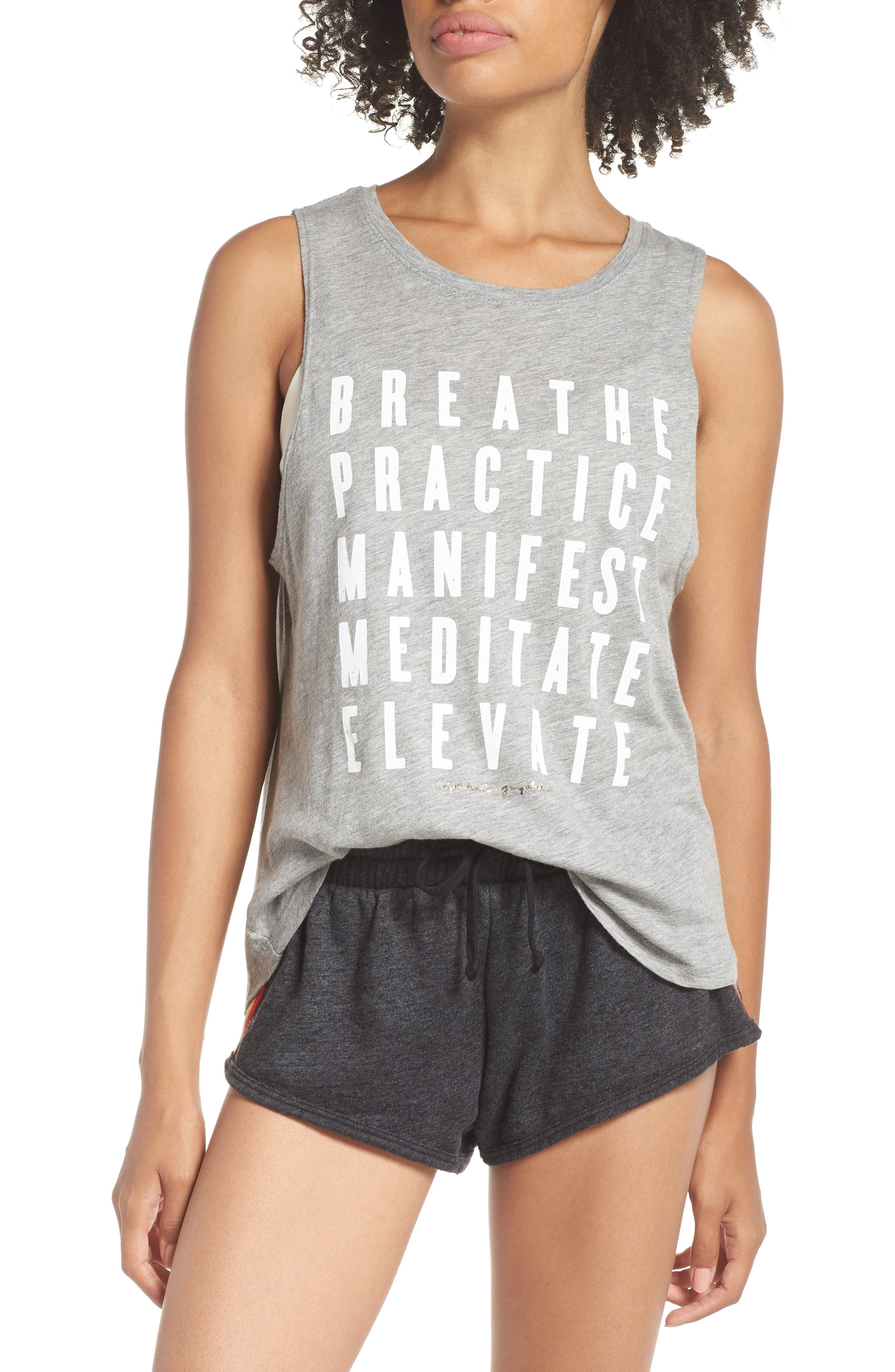 Proactive Muscle Tank Top,                         Main,                         color, Hthr Grey