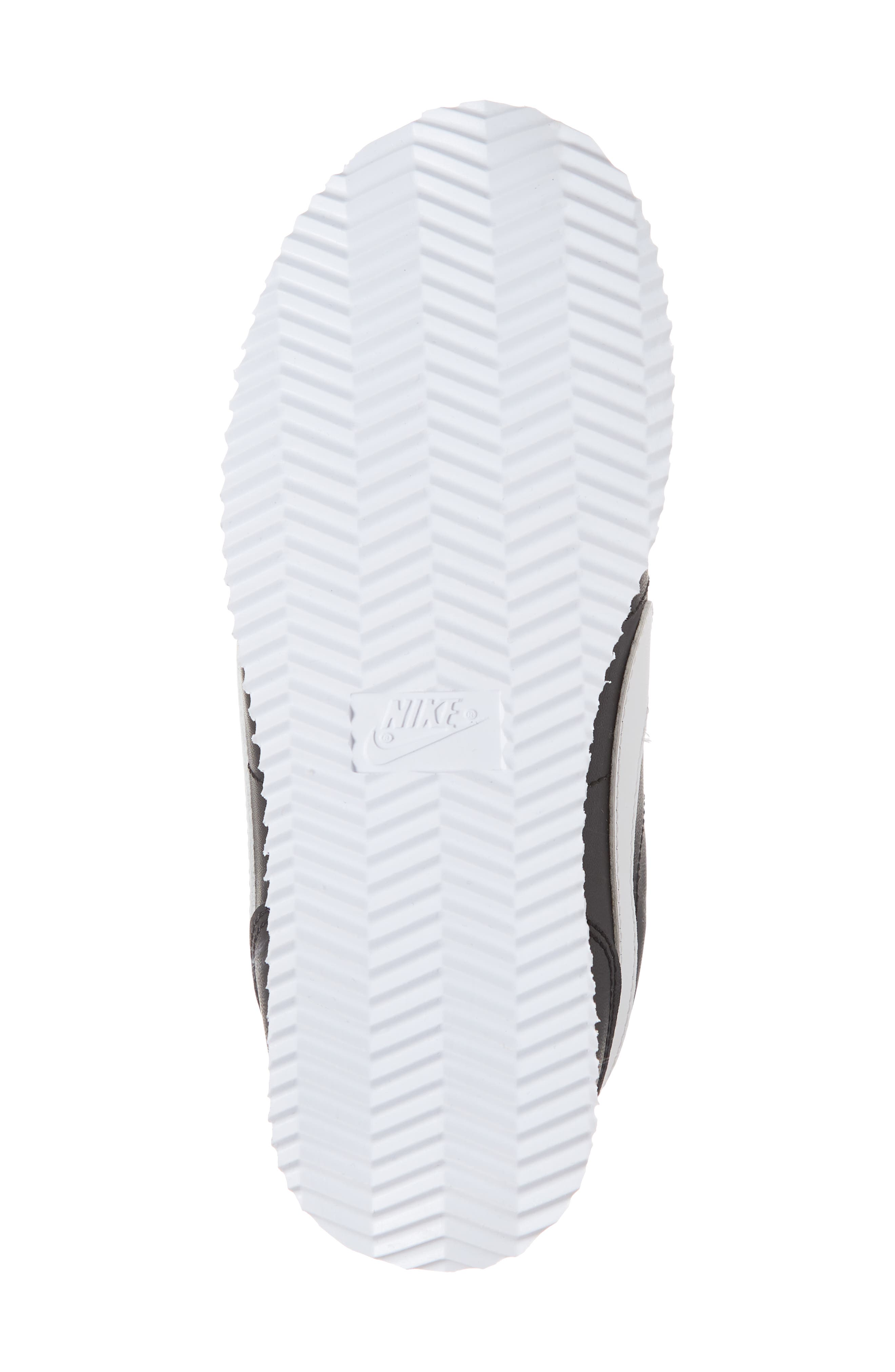Cortez Basic SL Sneaker,                             Alternate thumbnail 3, color,                             Black/ White