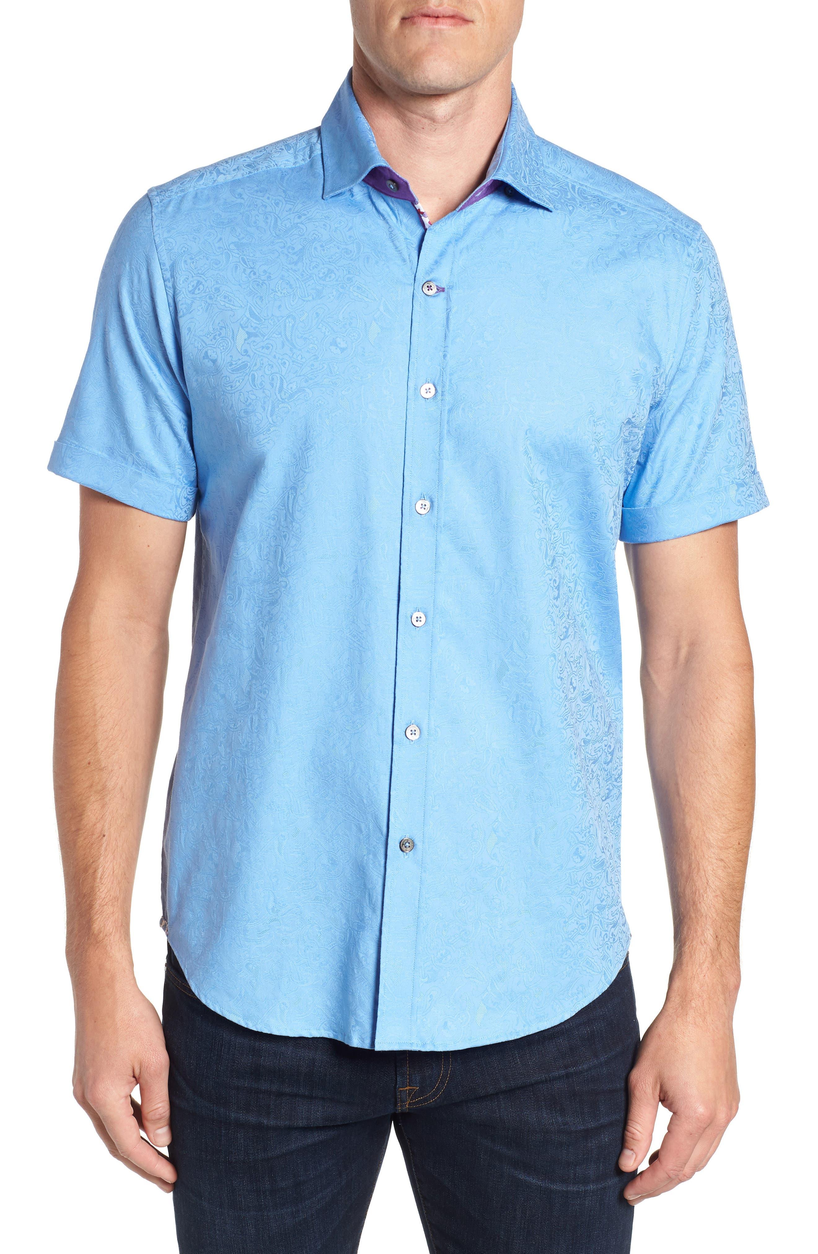 Abbott Sport Shirt,                         Main,                         color, Blue