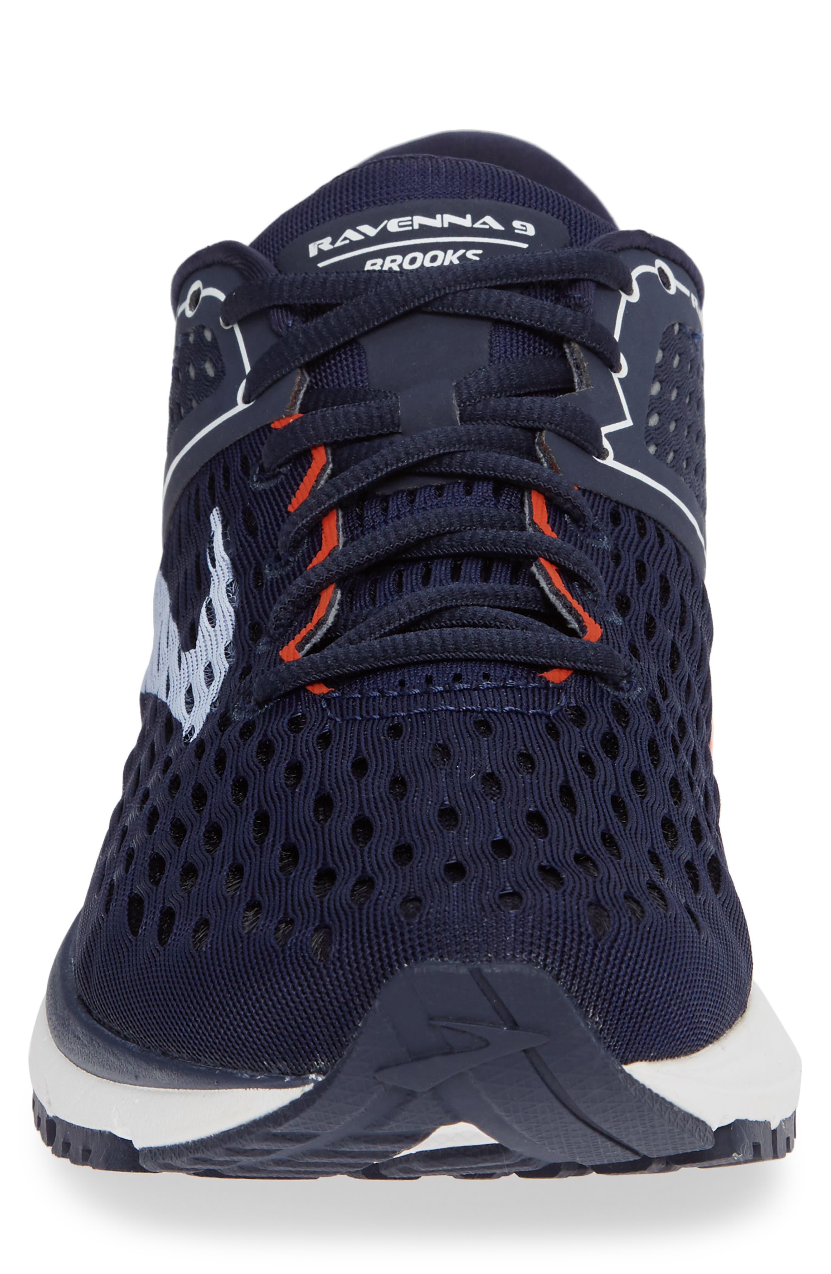 Ravenna 9 Running Shoe,                             Alternate thumbnail 5, color,                             Navy/ White/ Orange