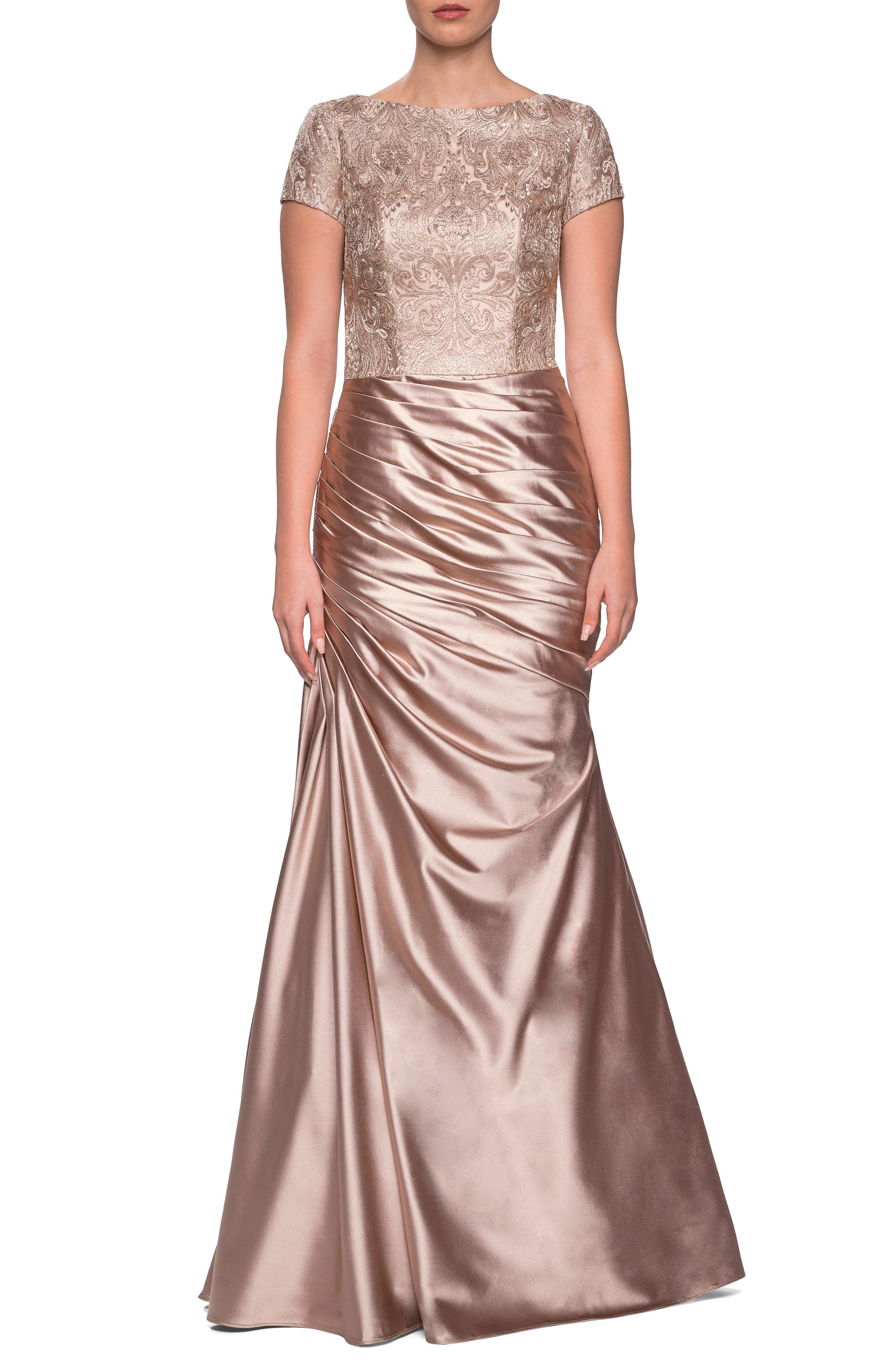 LA FEMME EMBROIDERED GOWN