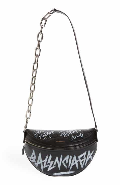 Balenciaga Graffiti Souvenir Leather Belt Bag f8e36d35b