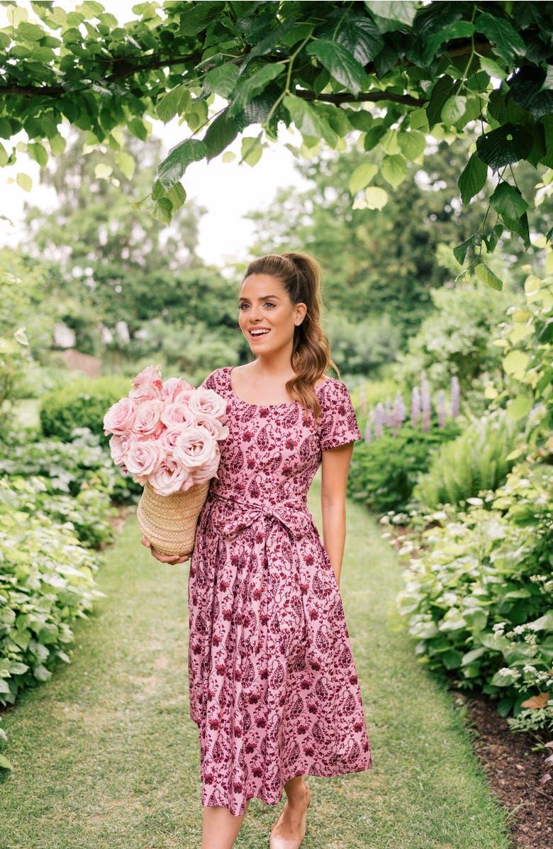 Hallie Fit & Flare Dress,                         Alternate,                         color, Rose/ Light Burgundy