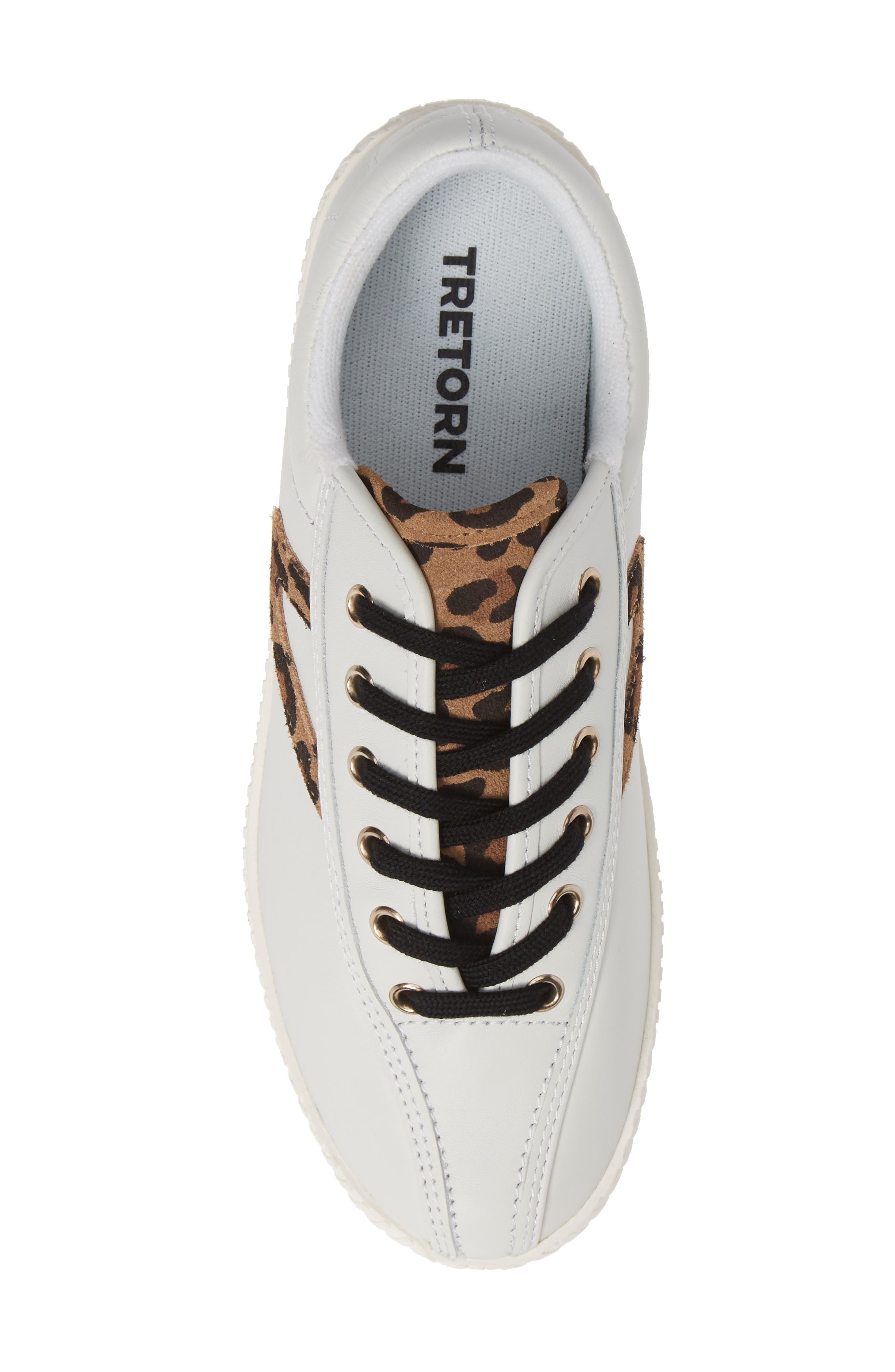 Patterned Sneaker,                             Alternate thumbnail 6, color,                             Vintage White/ Tan Multi
