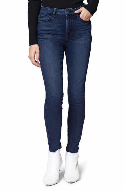 0855ddfbd245a Sanctuary Social High Rise Raw Hem Skinny Ankle Jeans (Stockholm Blue)