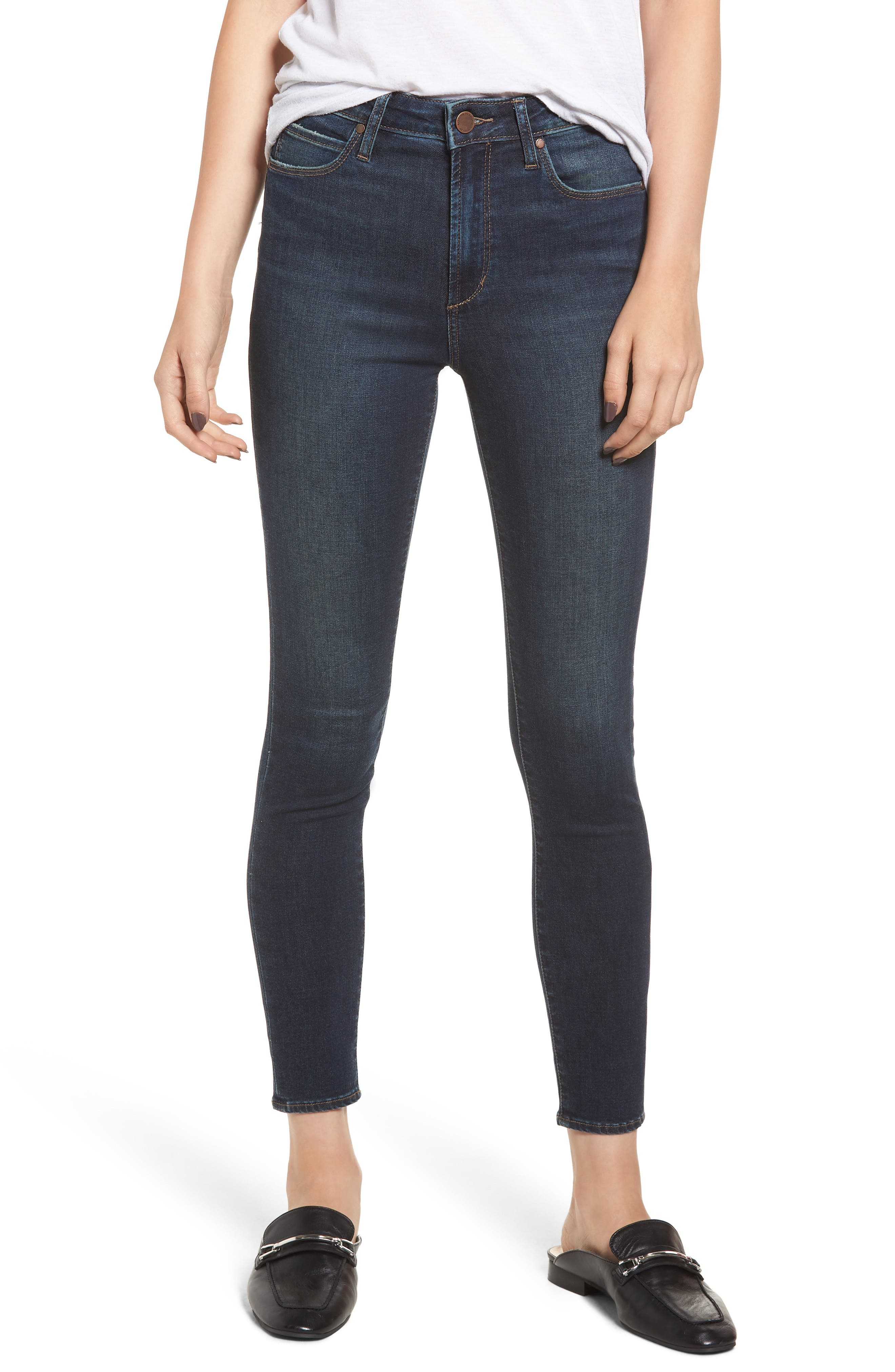 ARTICLES OF SOCIETY HEATHER HIGH WAIST ANKLE SKINNY JEANS