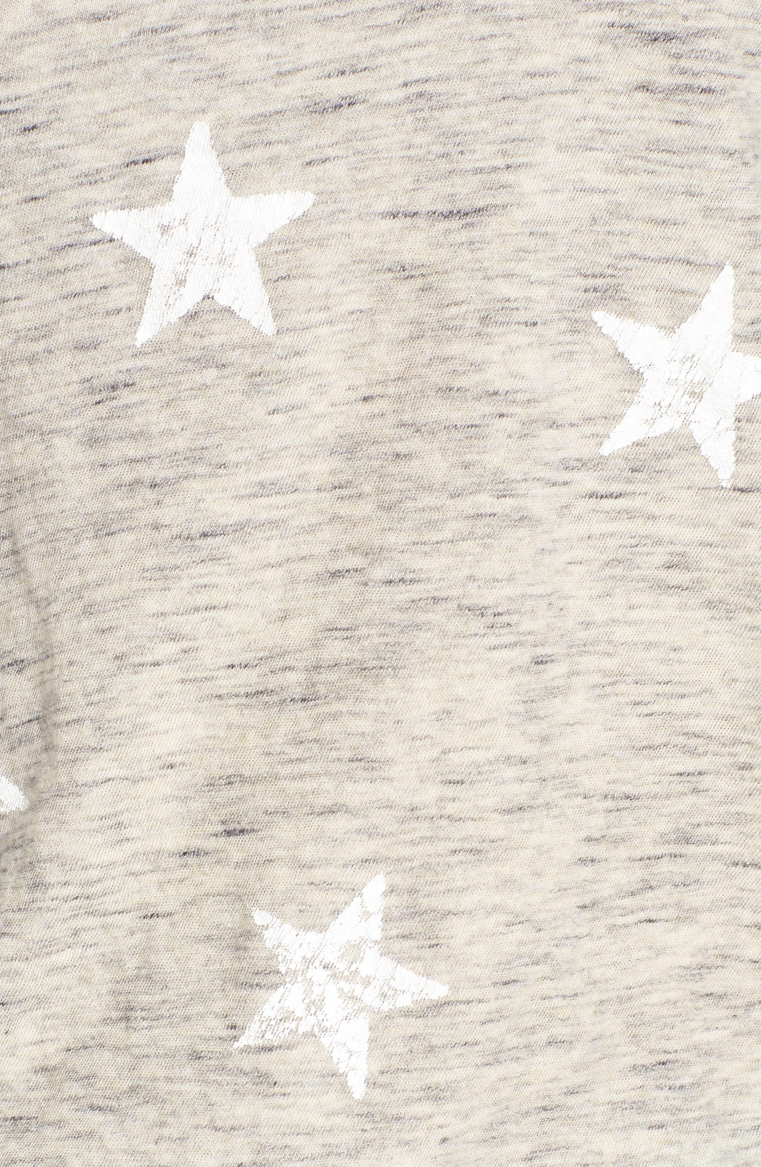 Star Tee,                             Alternate thumbnail 3, color,                             Grey/ White