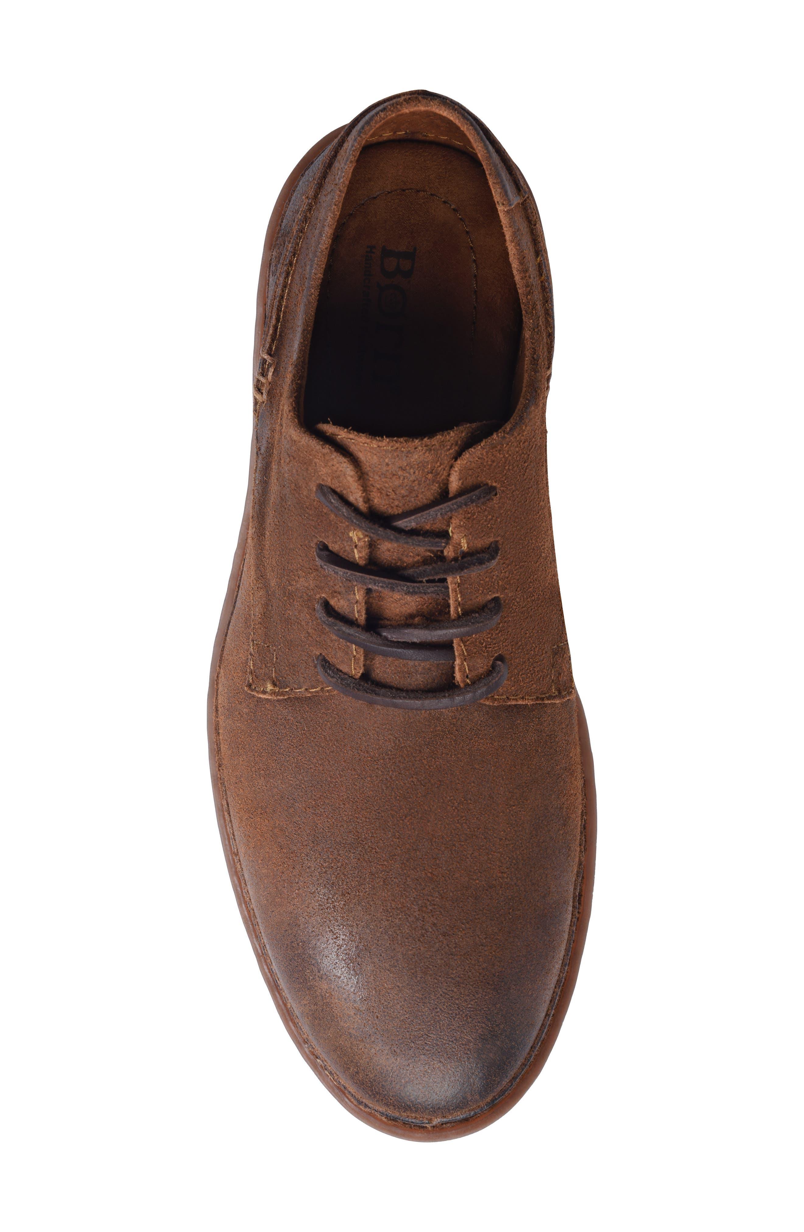 Gilles Plain Toe Derby,                             Alternate thumbnail 4, color,                             Brown/Brown Leather