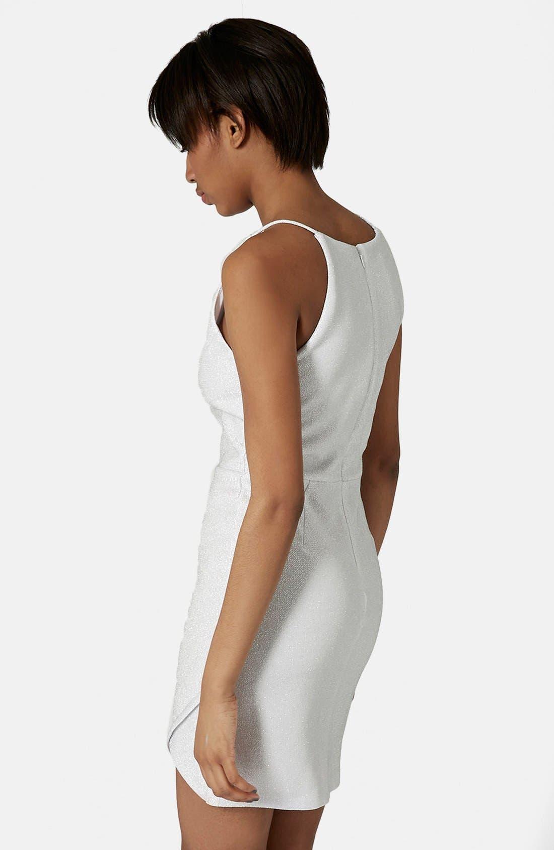 Alternate Image 2  - Topshop Tinsel Wrap Dress