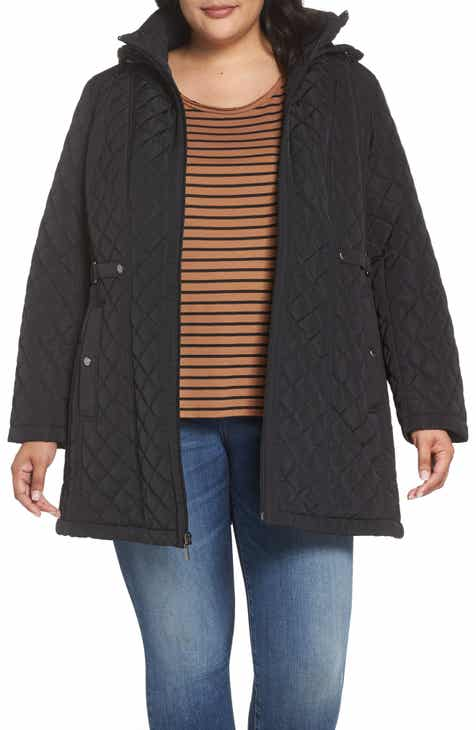 Gallery Quilted Hooded Jacket (Plus Size) 4fb01ad52b6
