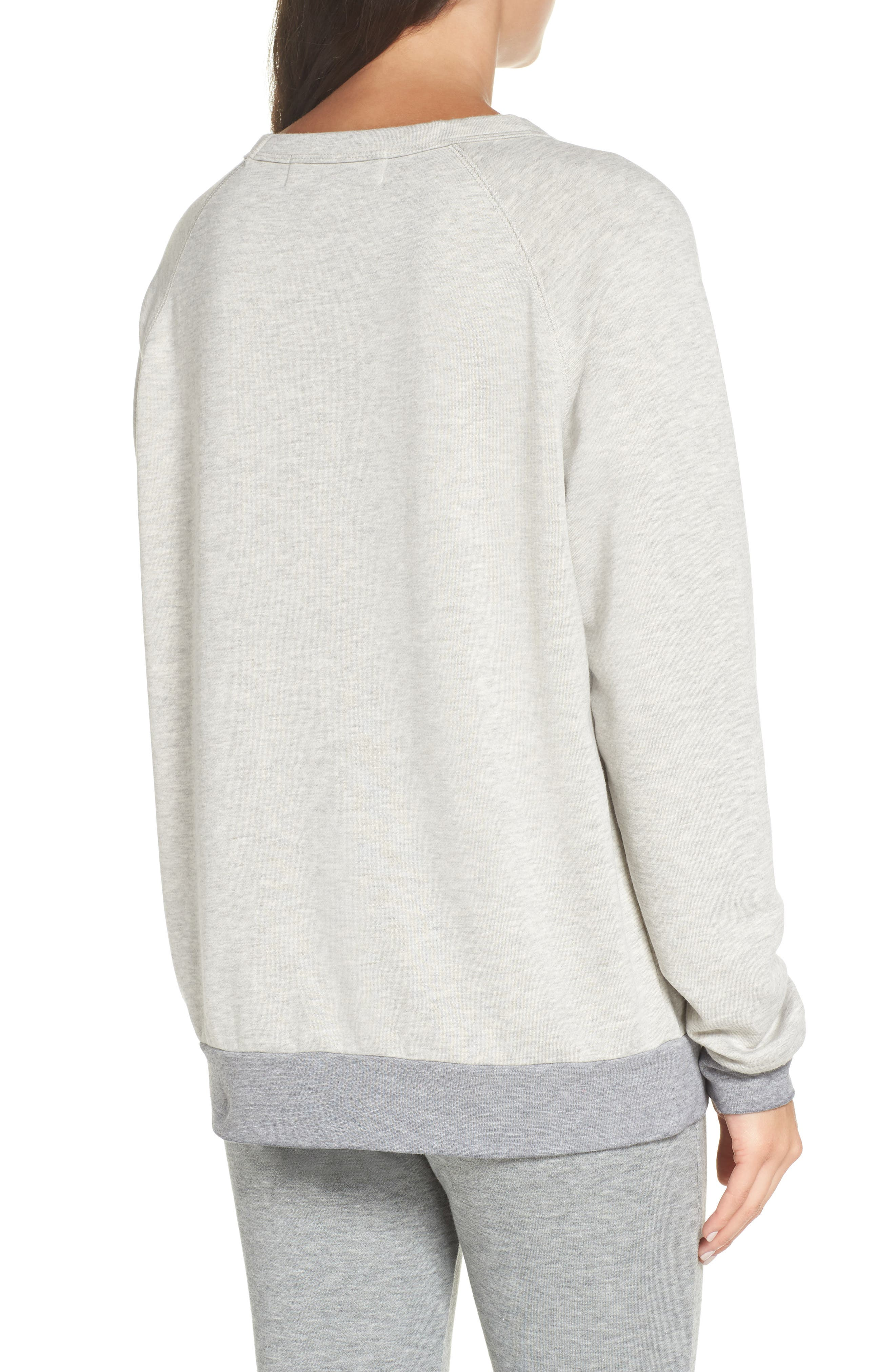Airplane Mode Cozy Lounge Sweatshirt,                             Alternate thumbnail 2, color,                             Pebble Heather