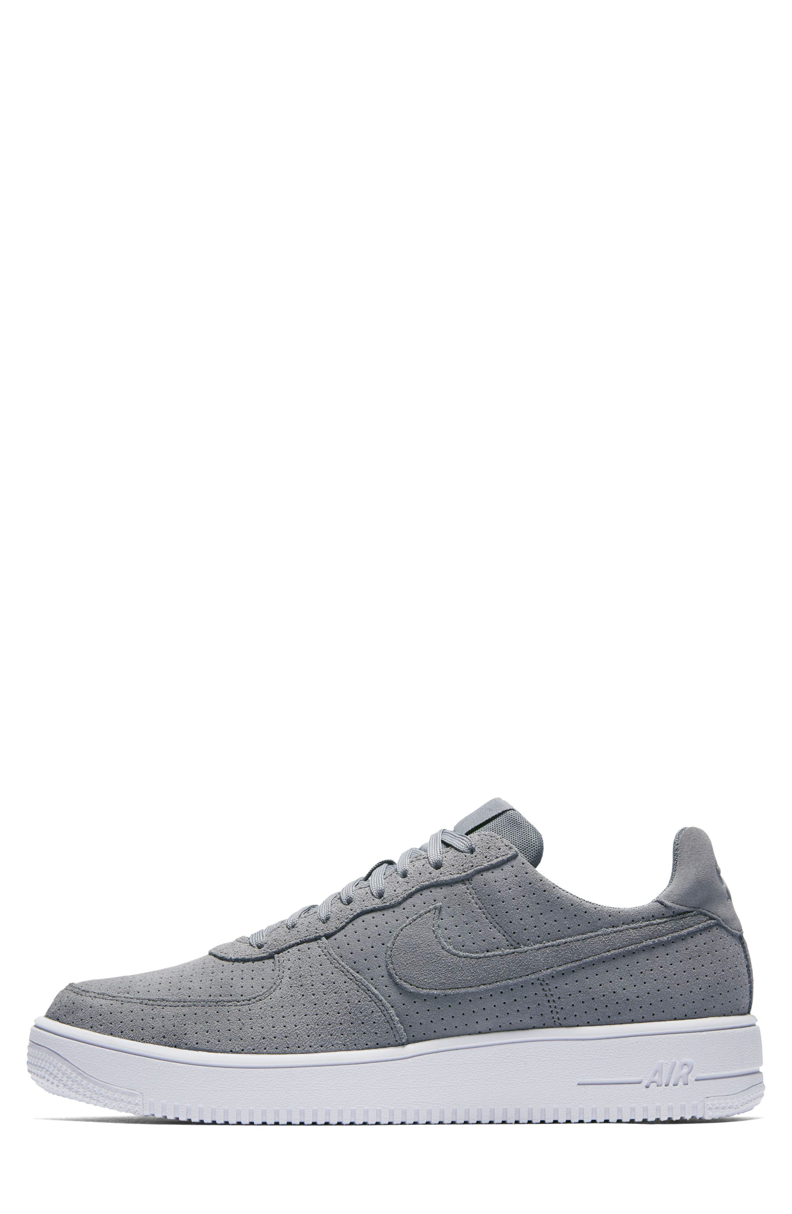 Air Force 1 Ultraforce Sneaker,                             Alternate thumbnail 3, color,                             Cool Grey/ White
