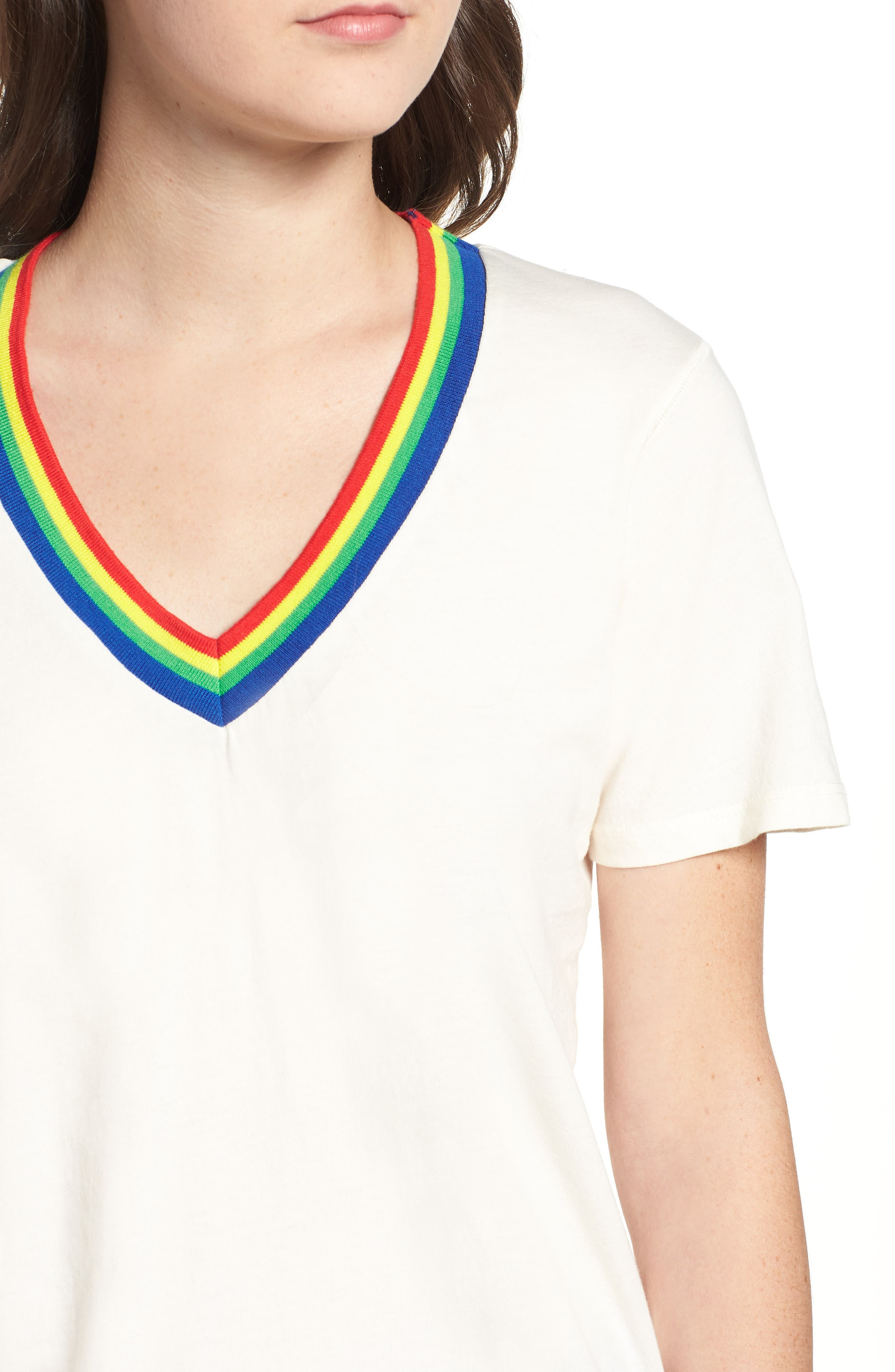 Over the Rainbow Tee,                             Alternate thumbnail 4, color,                             Ivory